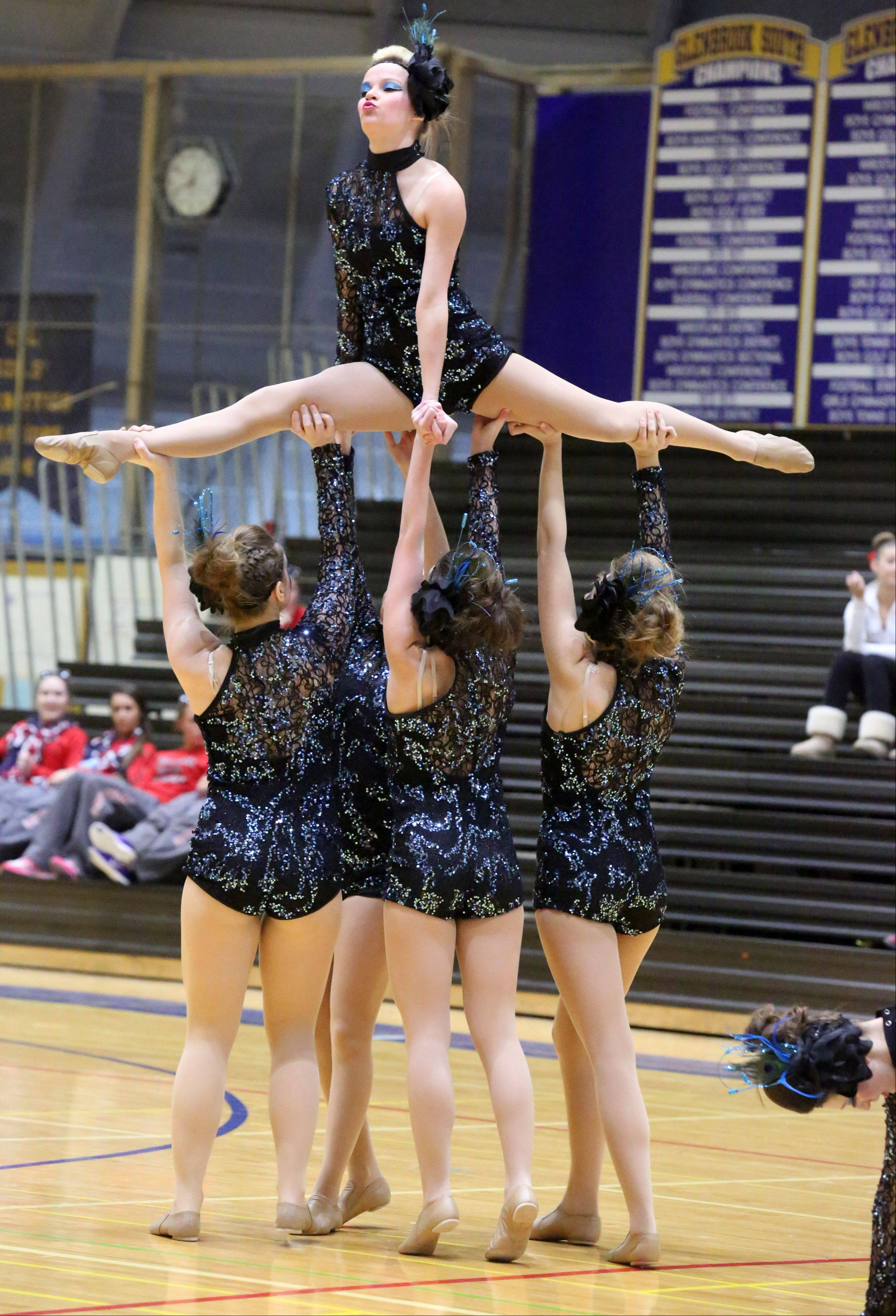 Lakes High School's dance team competes at the IHSA competitive dance sectional at Glenbrook South High School on Saturday in Glenview.