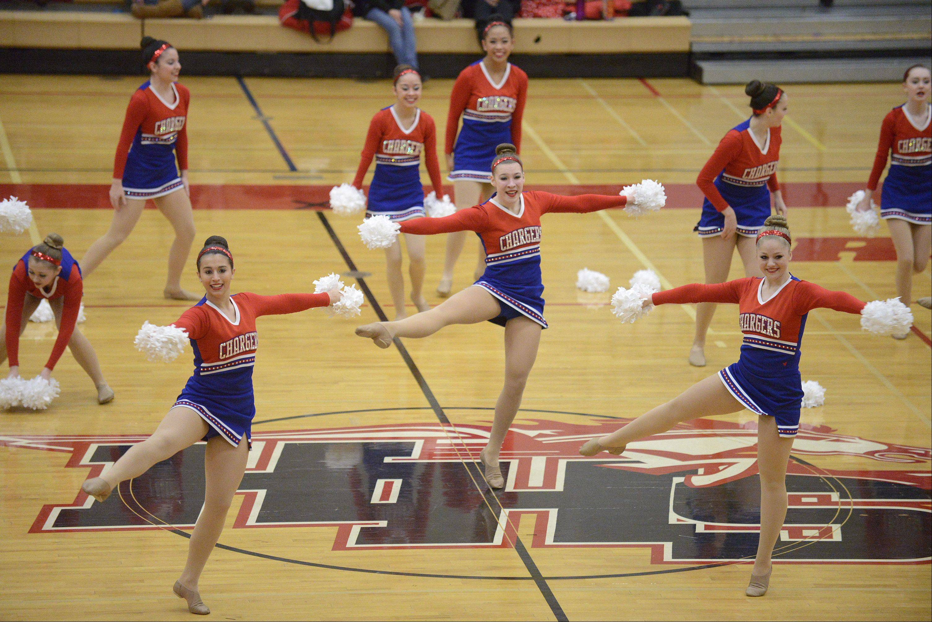 Dundee-Crown High School performs at the IHSA 3A competitive dance sectionals at Huntley High School on Saturday, January 25.