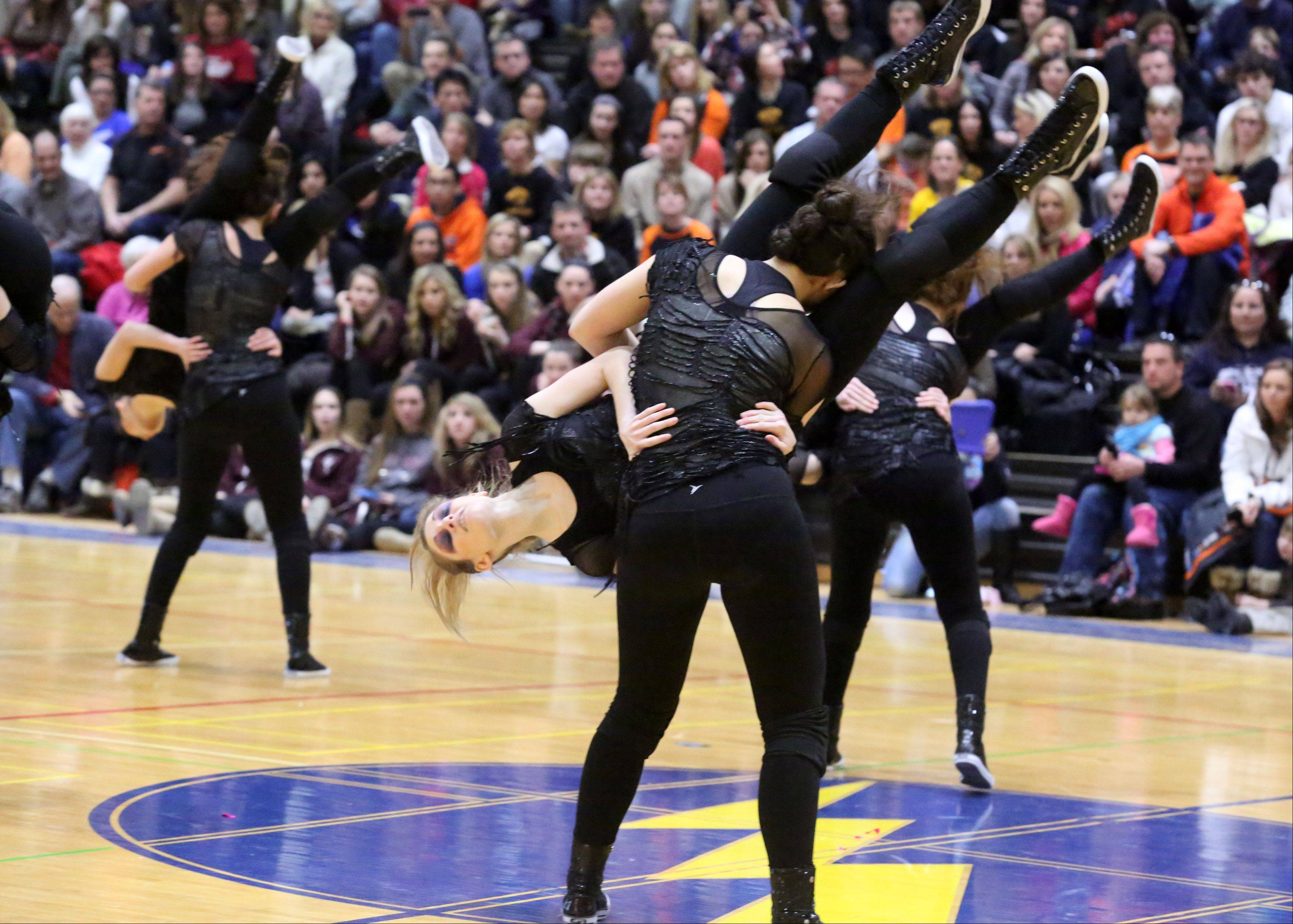 Fenton High School's dance team competes at the IHSA competitive dance sectional at Glenbrook South High School on Saturday in Glenview.