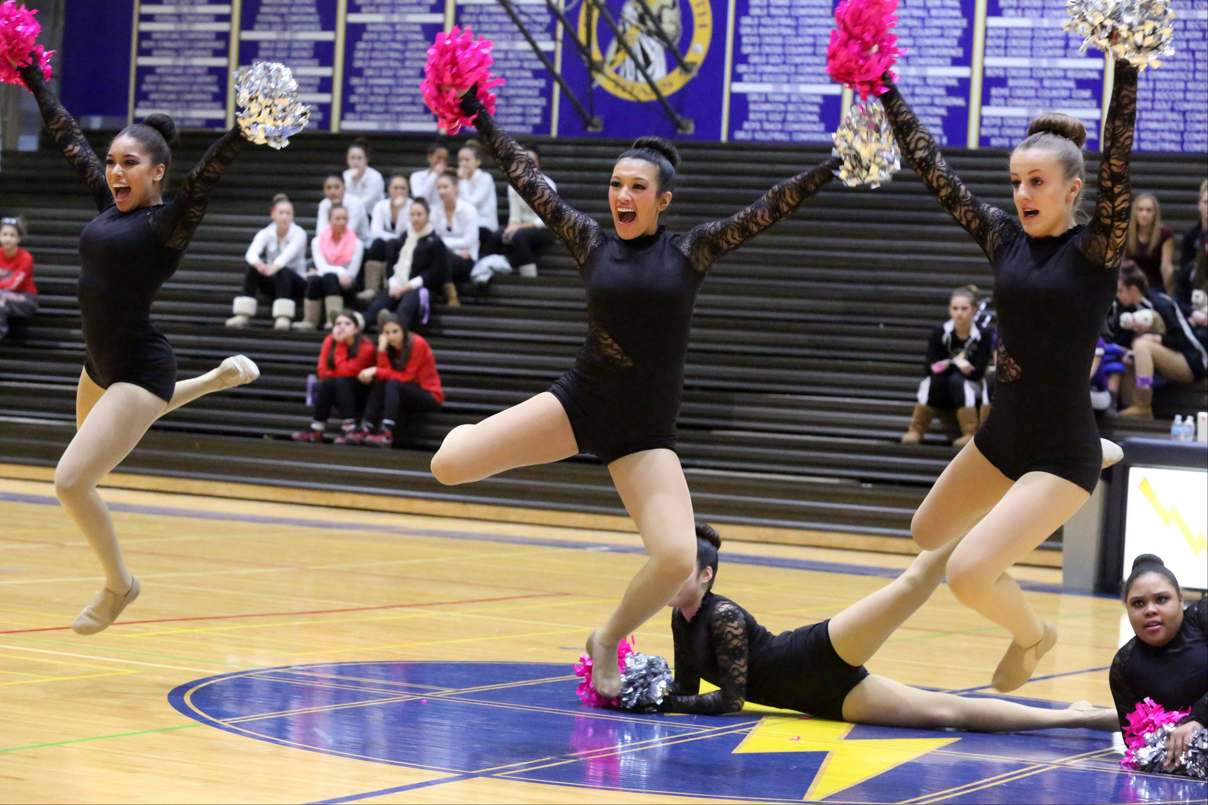 Maine East High School's dance team competes at the IHSA competitive dance sectional at Glenbrook South High School on Saturday in Glenview.