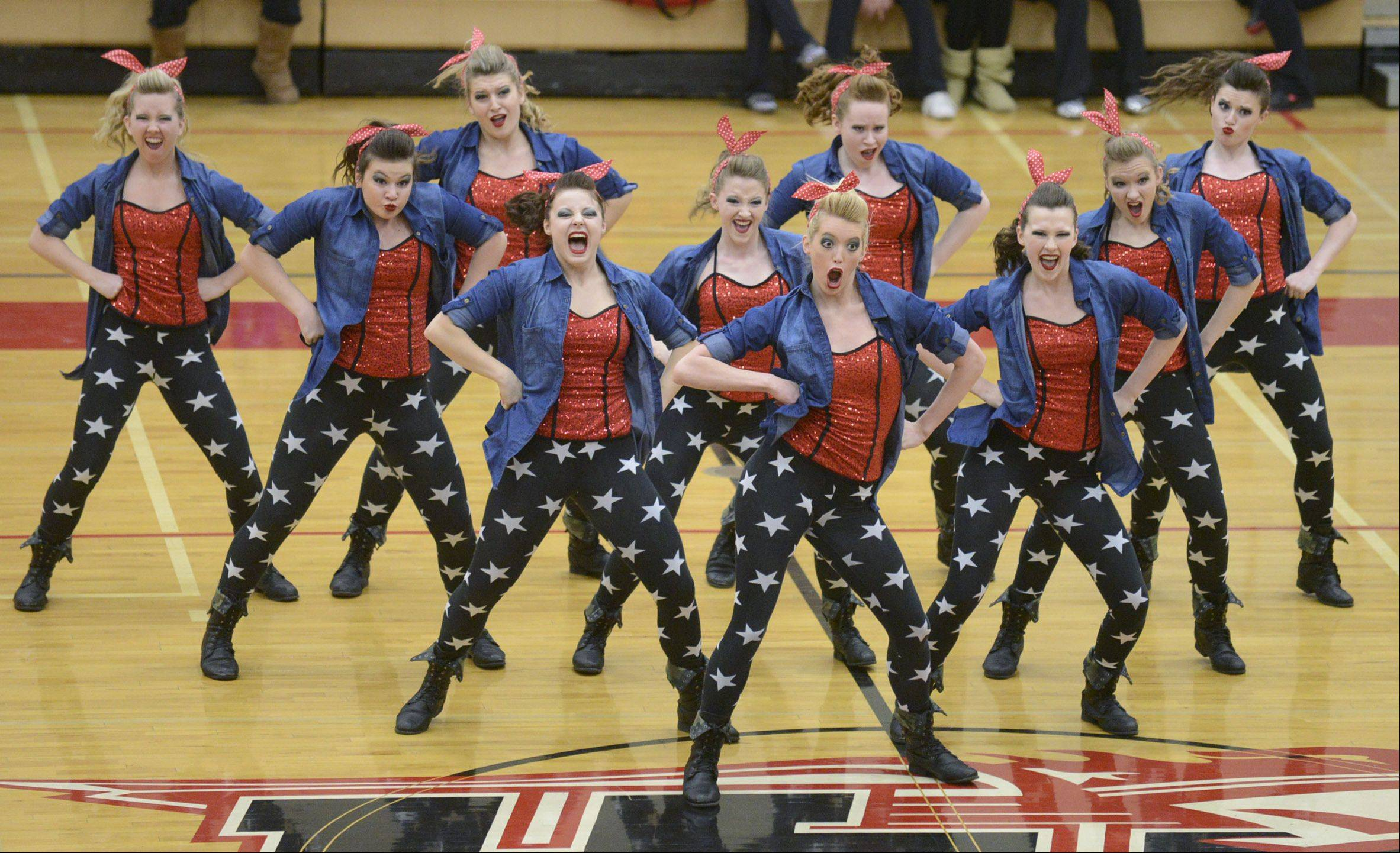 Grant High School performs in the IHSA 2A competitive dance sectionals at Huntley High School on Saturday, January 25.