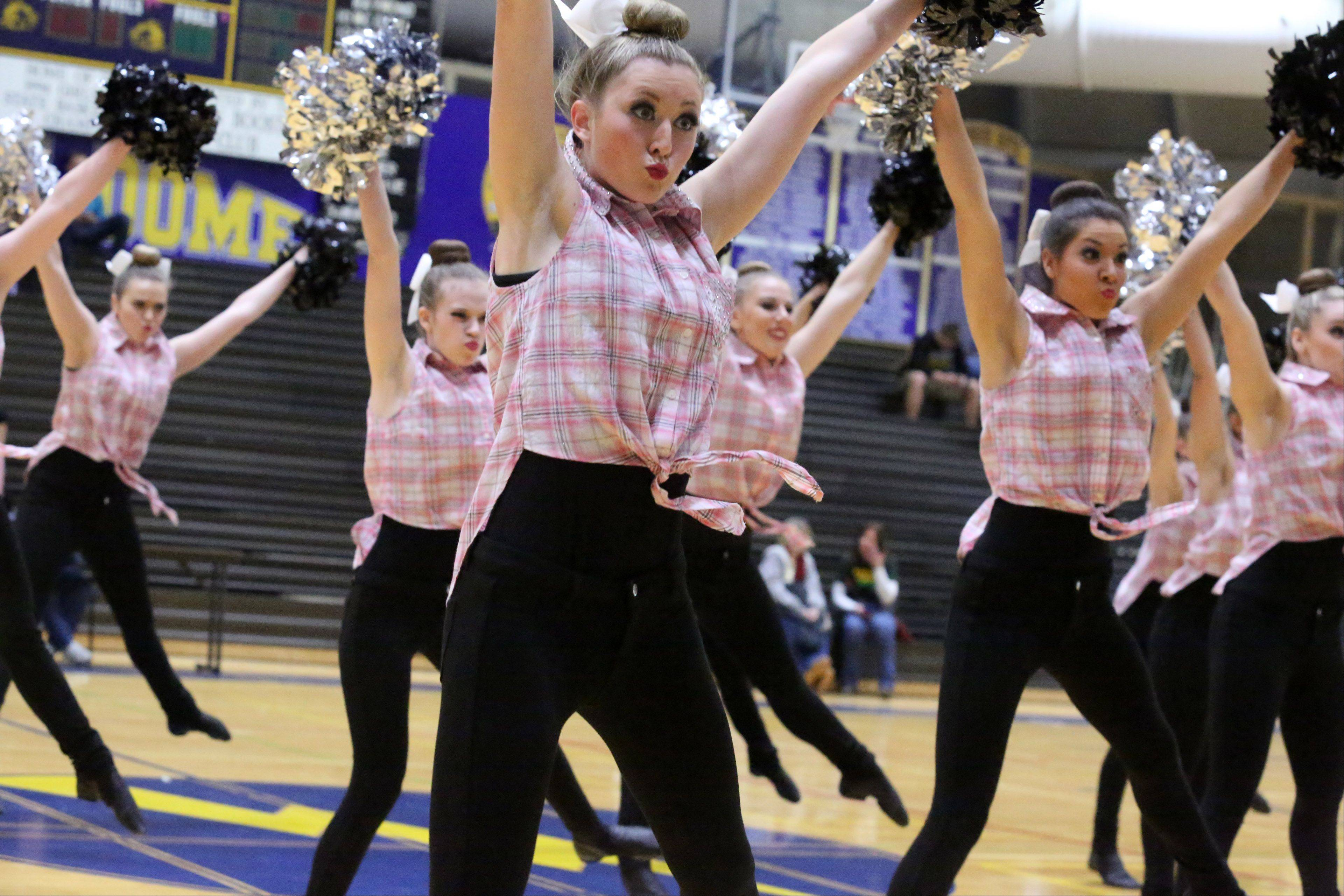 Rolling Meadows High School's dance team competes at the IHSA competitive dance sectional at Glenbrook South High School on Saturday in Glenview.