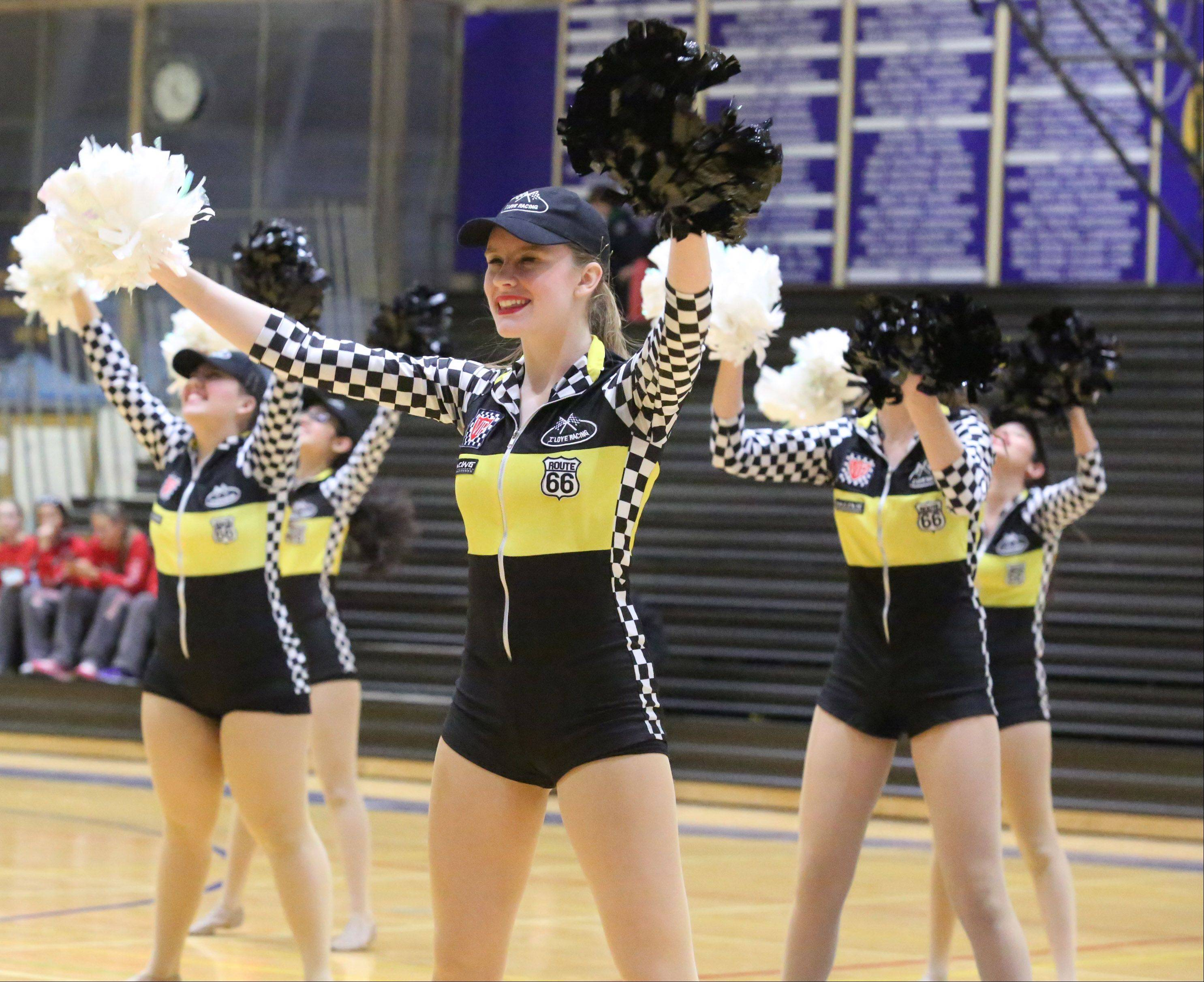 Elk Grove High School's dance team competes at the IHSA competitive dance sectional at Glenbrook South High School on Saturday in Glenview.