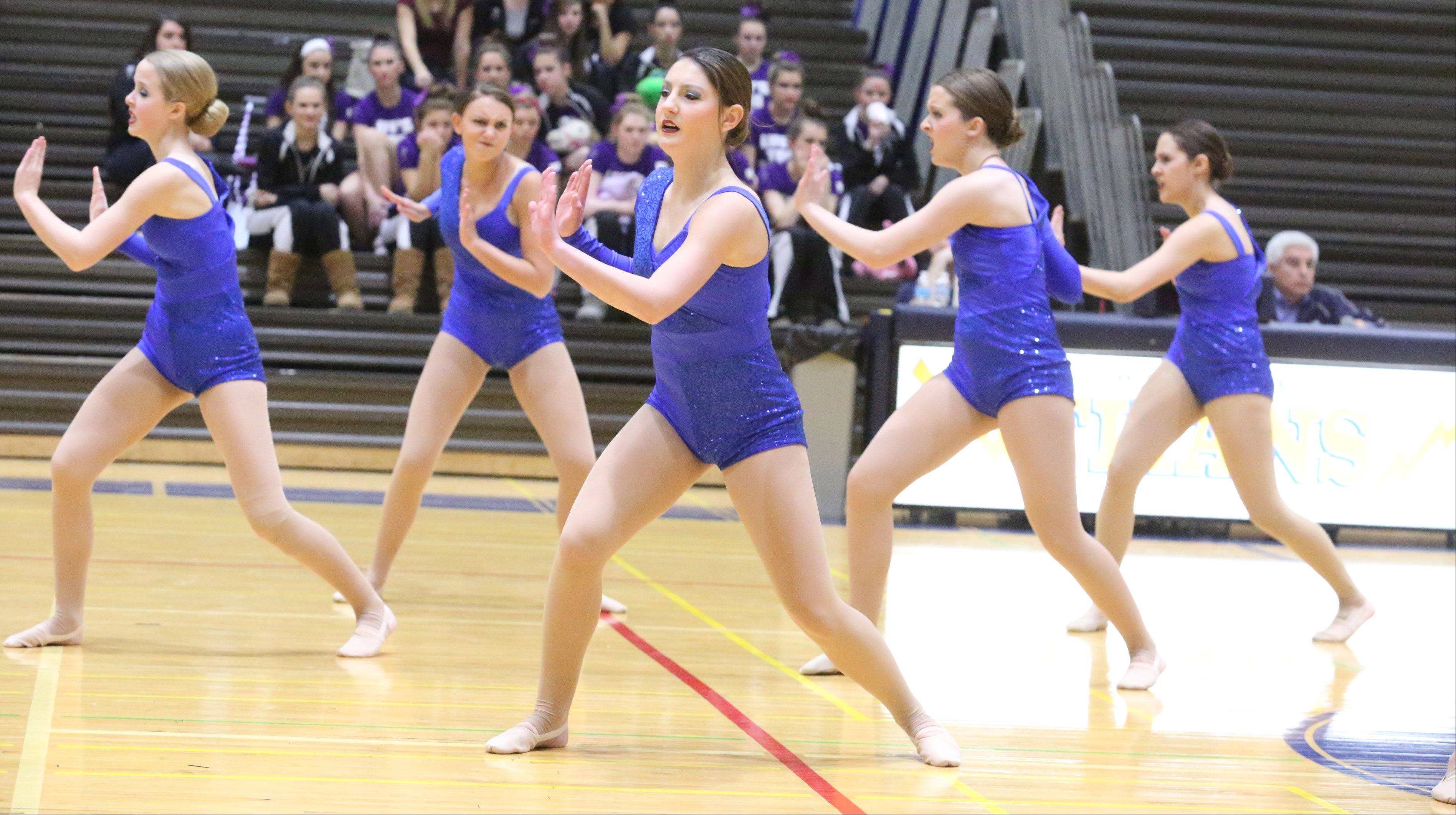 Vernon Hills High School's dance team competes at the IHSA competitive dance sectional at Glenbrook South High School on Saturday in Glenview.