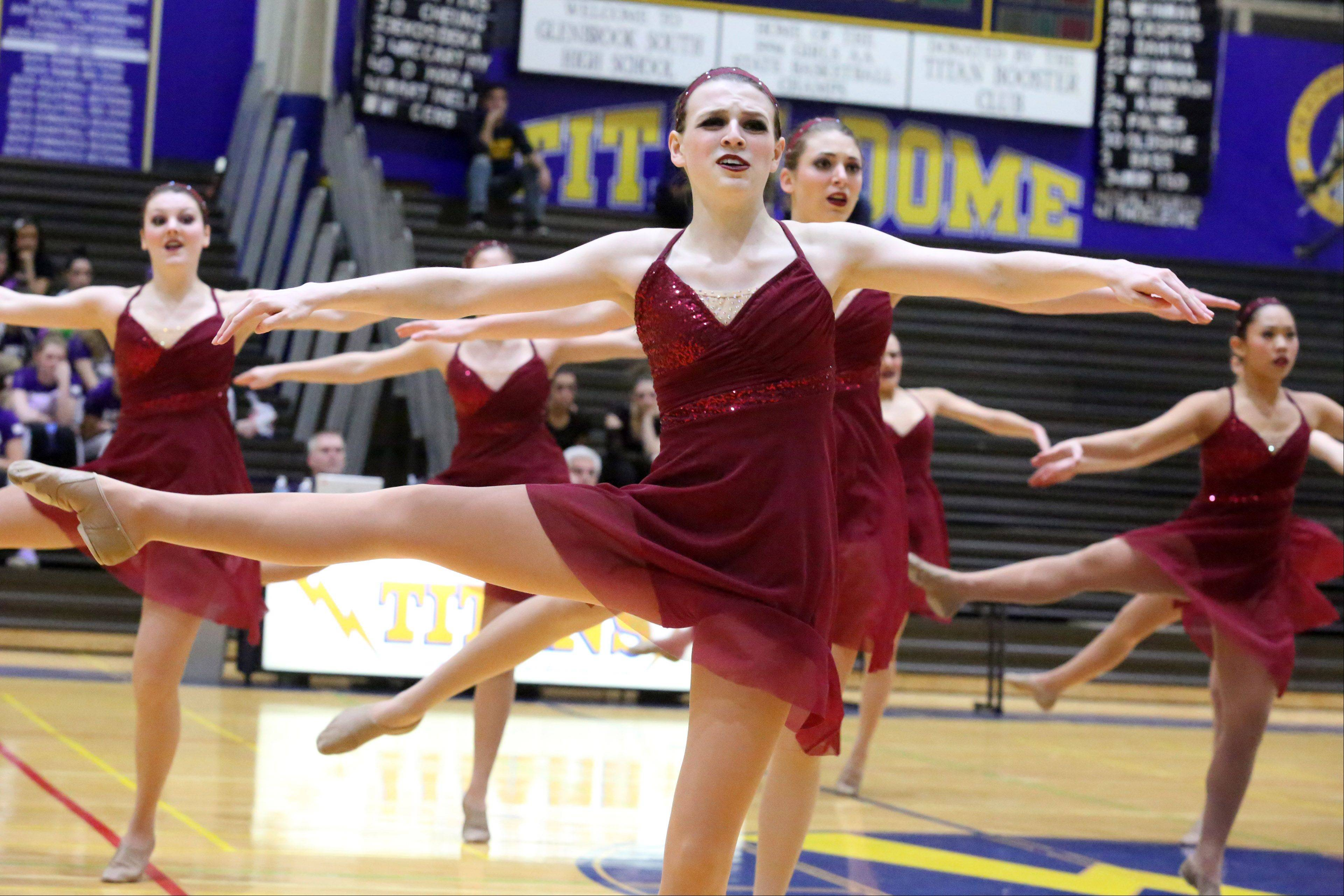 Libertyville High School's dance team competes at the IHSA competitive dance sectional at Glenbrook South High School on Saturday in Glenview.