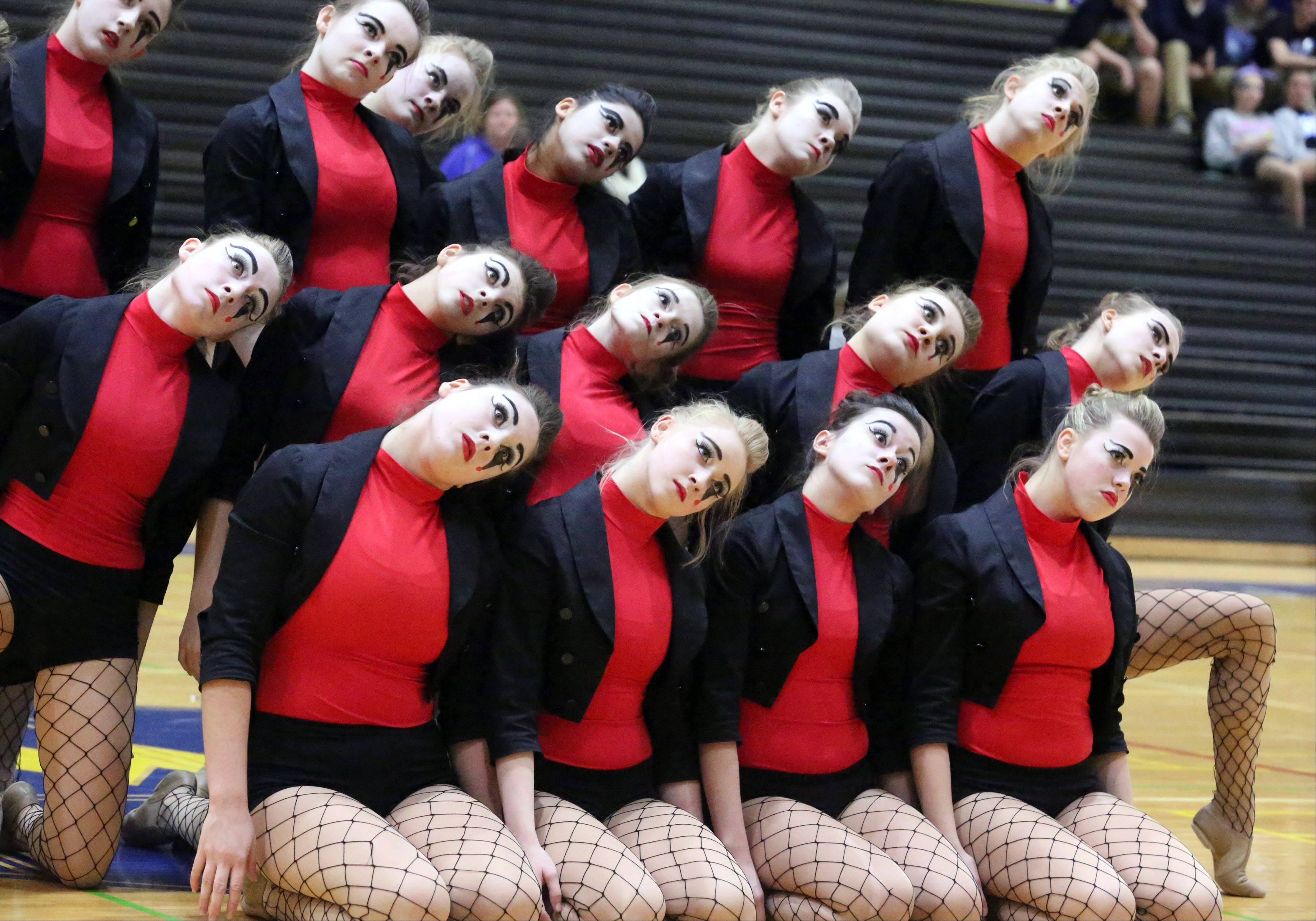 Grayslake Central High School's dance team competes at the IHSA competitive dance sectional at Glenbrook South High School on Saturday in Glenview.