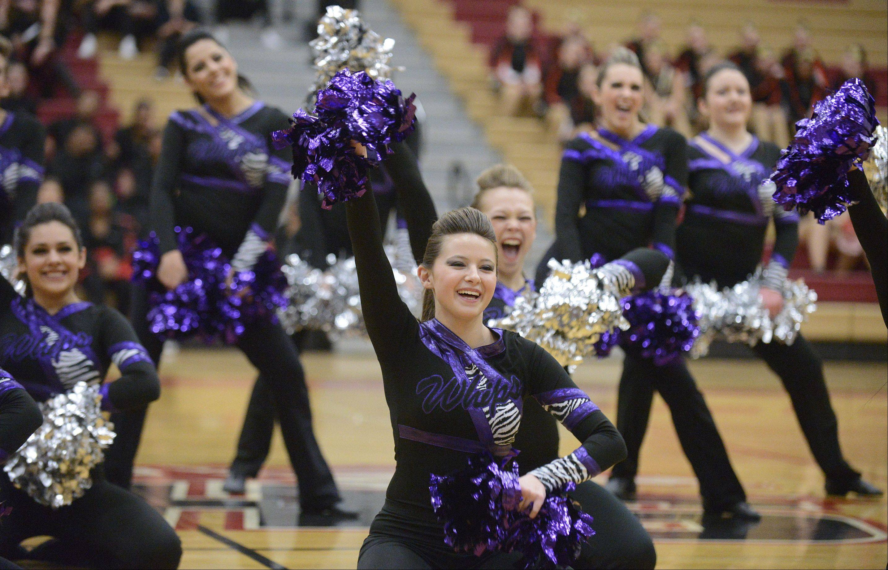 Hampshire High School performs in the IHSA 2A competitive dance sectionals at Huntley High School on Saturday.