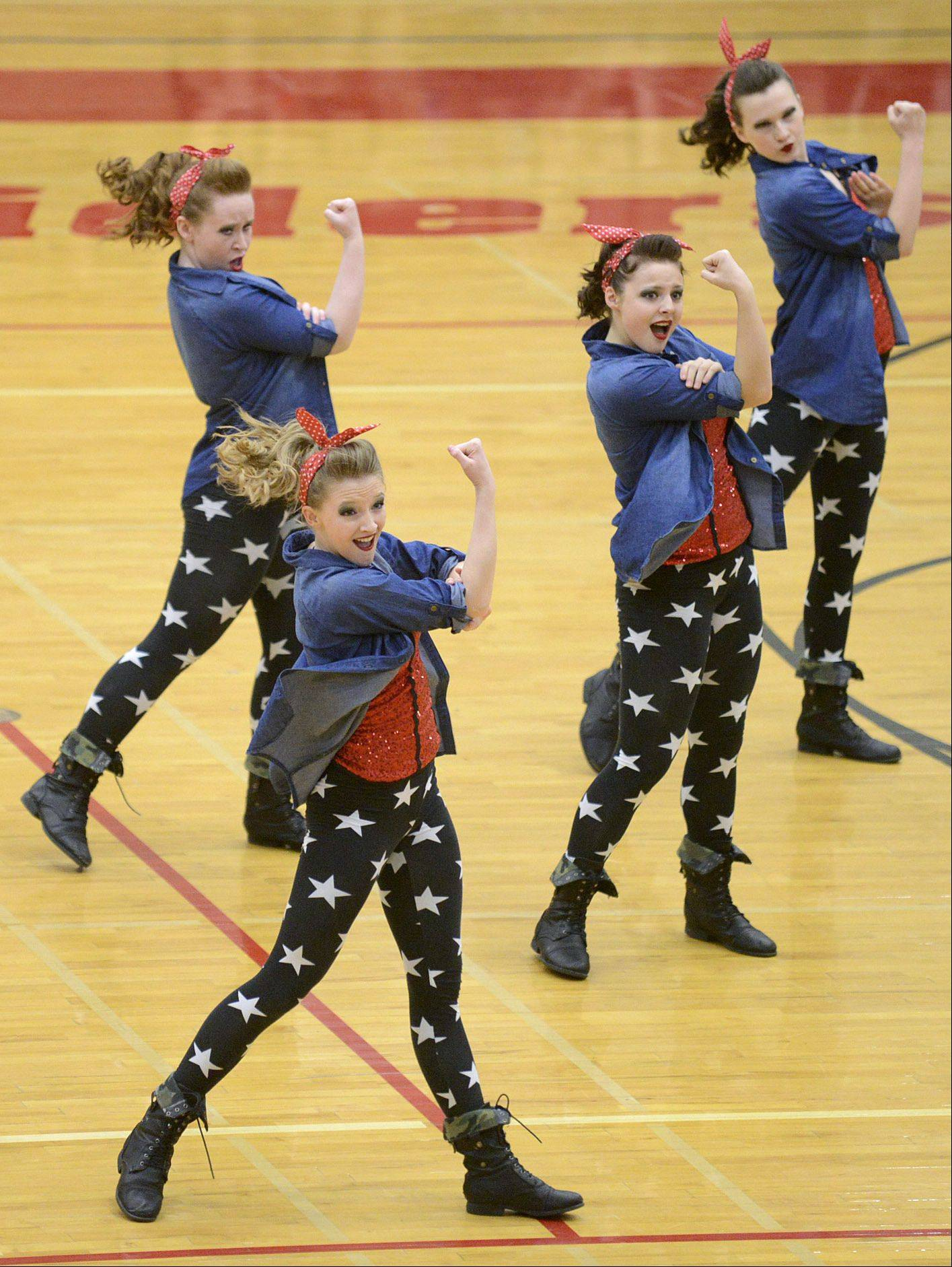 Grant High School performs in the IHSA 2A competitive dance sectionals at Huntley High School on Saturday.
