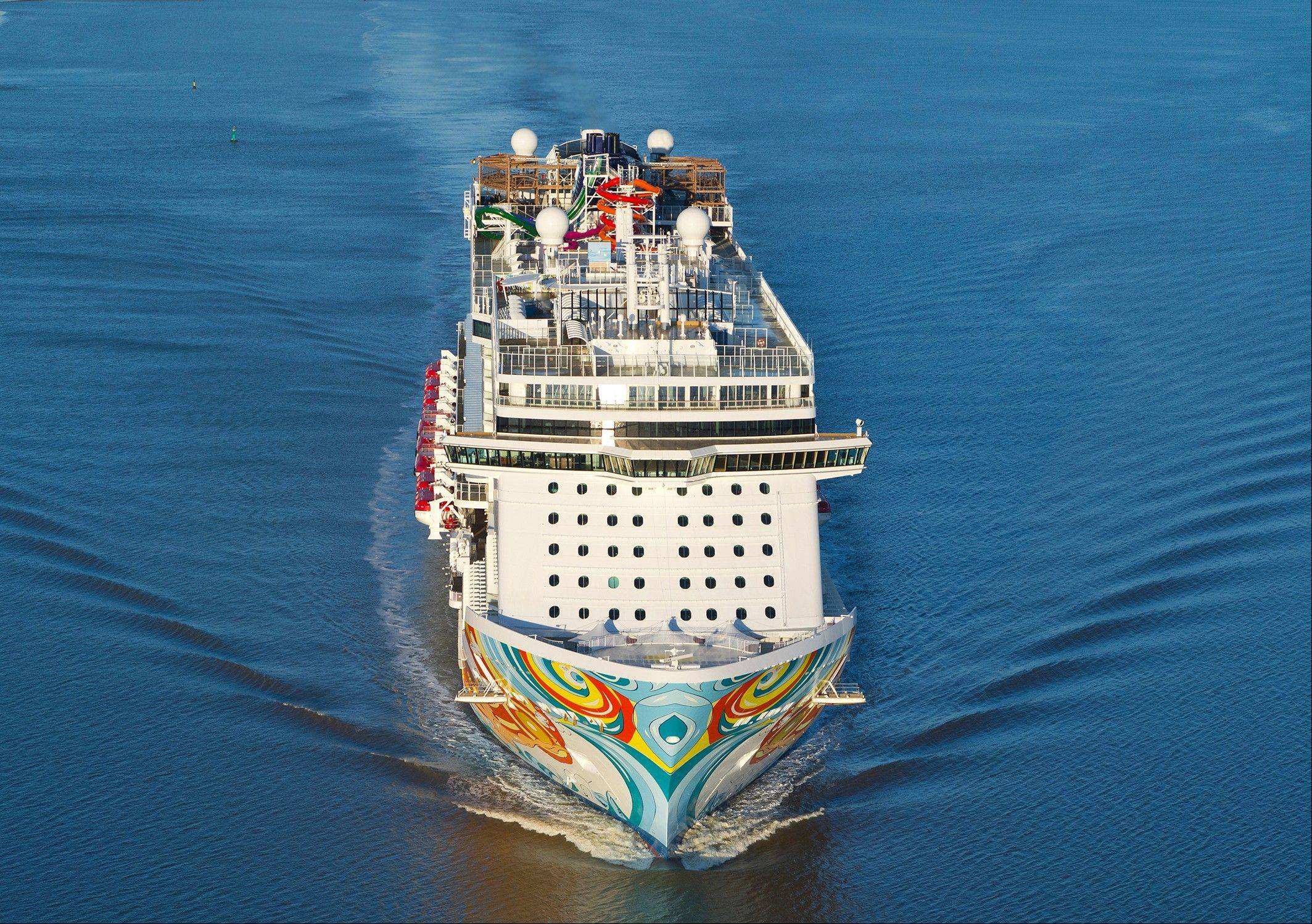 Norwegian Cruise Line's Norwegian Getaway during its debut.