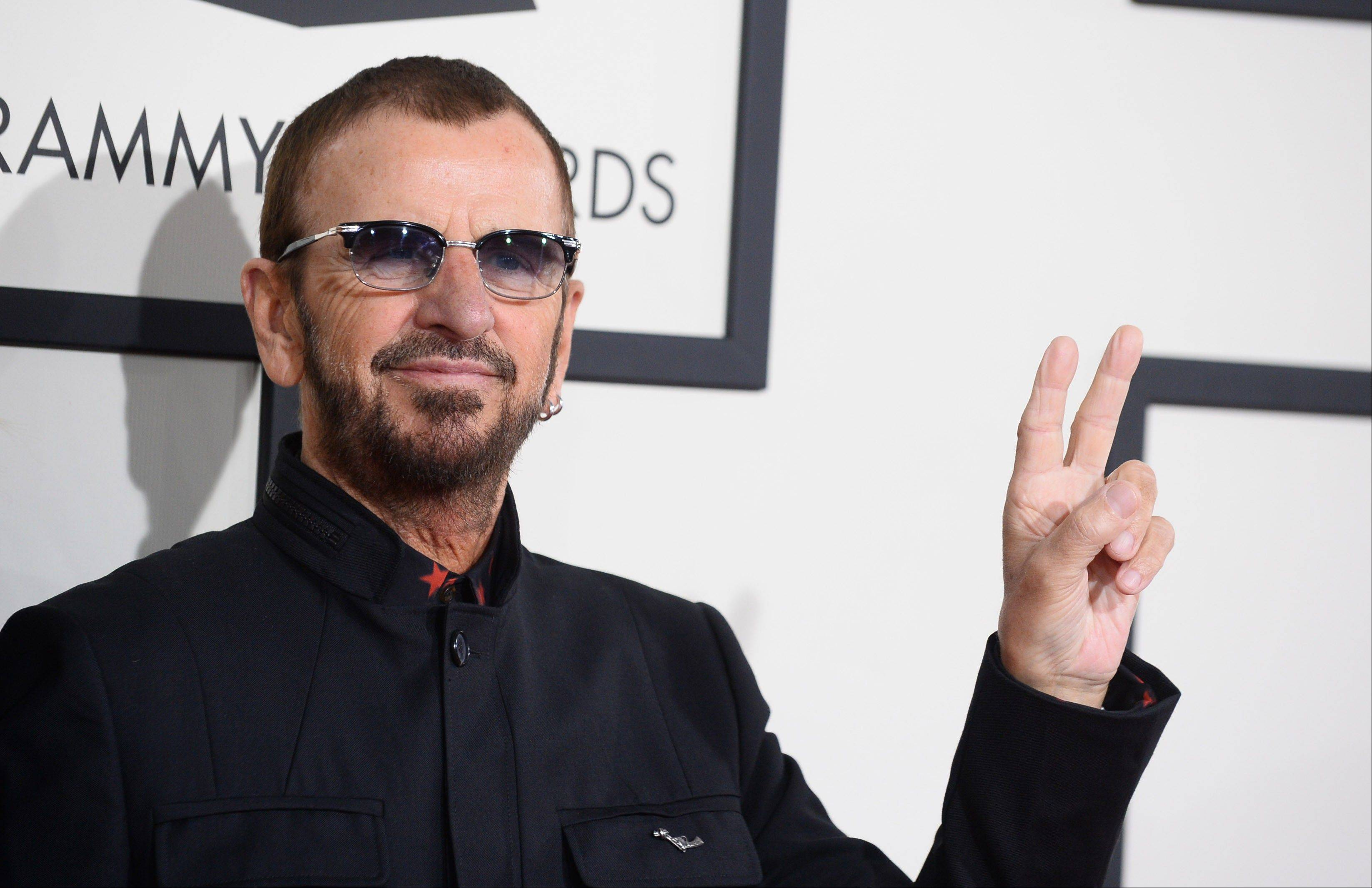 Ringo Starr arrives at the 56th annual Grammy Awards at Staples Center on Sunday in Los Angeles. The Beatles were being honored with a Lifetime Achievement Award.