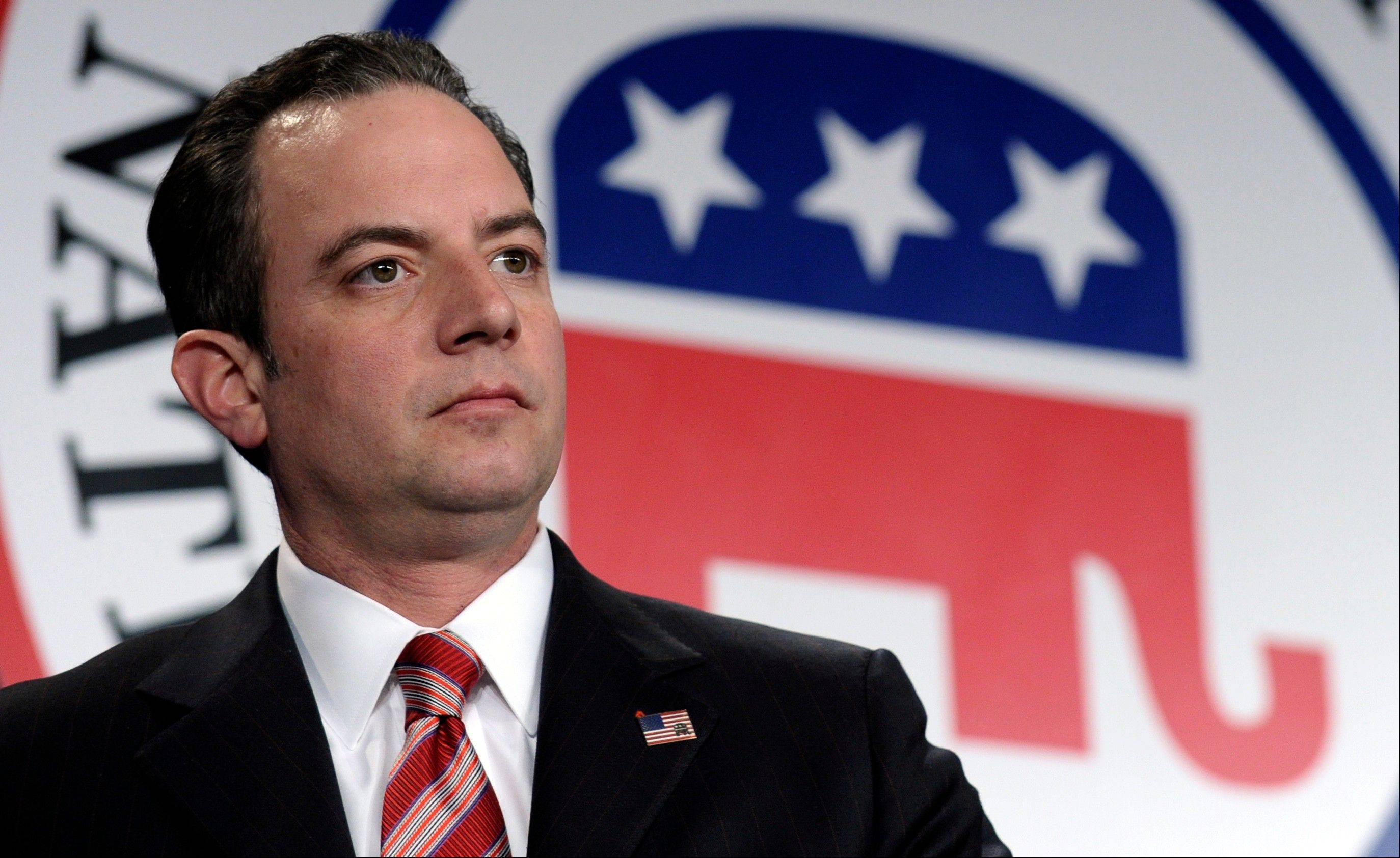 Republican National Committee chairman Reince Priebus presides Friday over the winter meeting in Washington.
