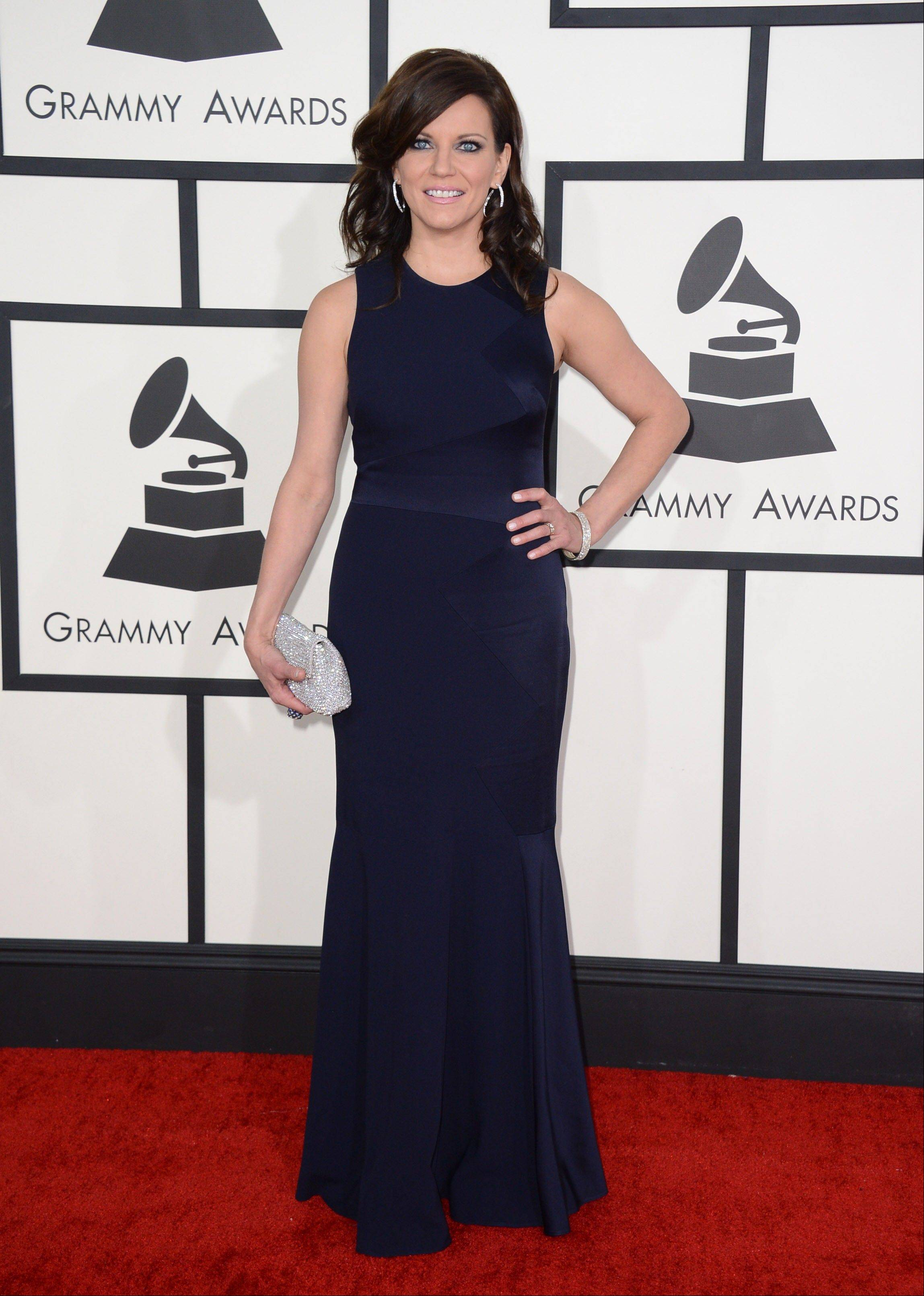 Country singer Martina McBride arrives at the 56th annual Grammy Awards at Staples Center on Sunday in Los Angeles.