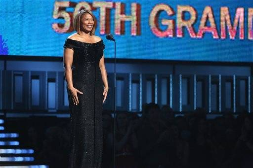 "Queen Latifah introduces a performance of ""Same Love"" by Macklemore Ryan Lewis, with Mary Lambert, Trombone Shorty and Madonna."