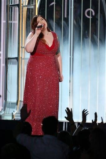"Mary Lambert performs ""Same Love"" at the 56th annual Grammy Awards."
