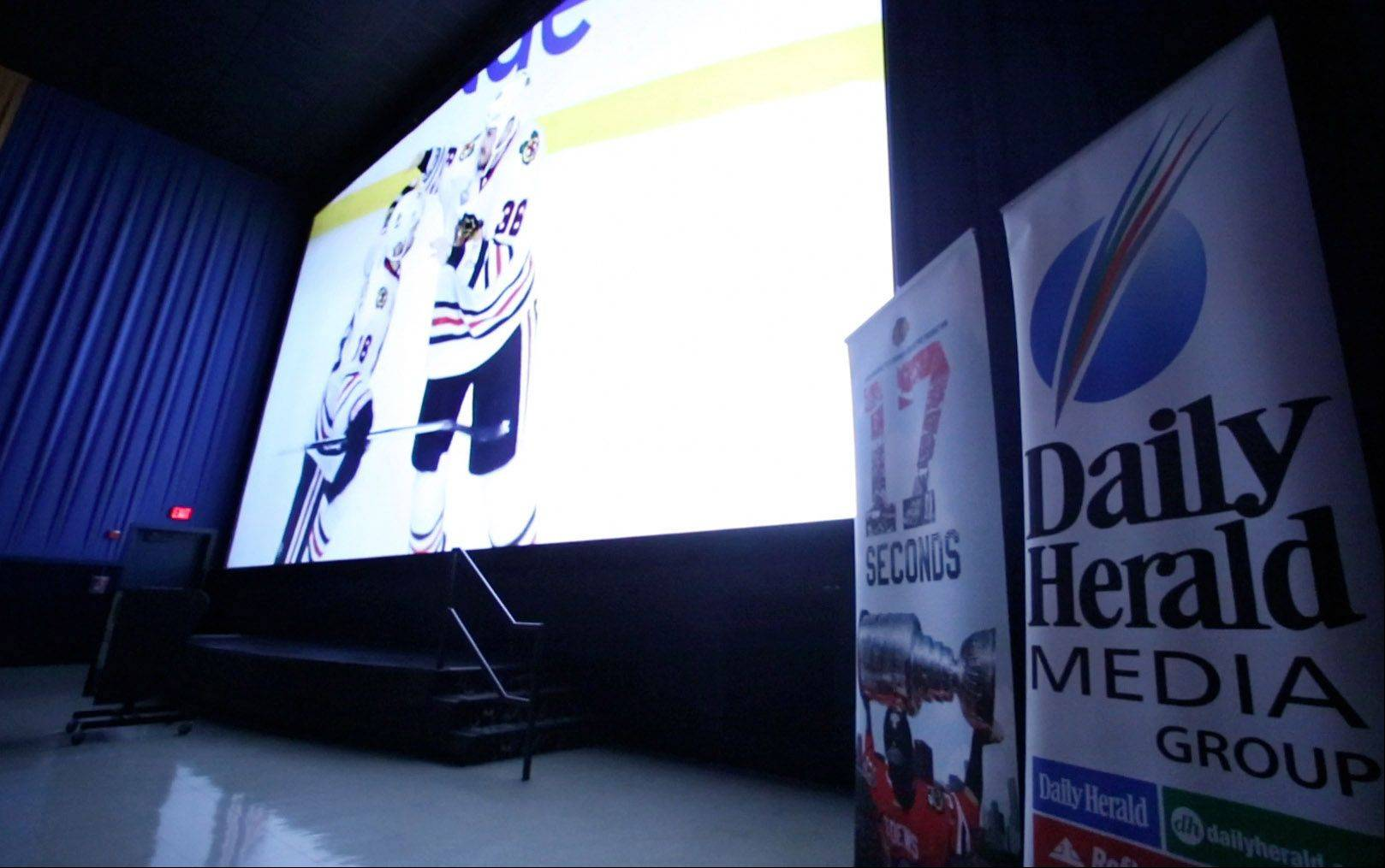 "The Daily Herald and Chicago Blackhawks teamed Sunday to screen the film ""17 Seconds"" at Classic Cinemas Theater in Elk Grove Village. The film documents the Blackhawks' 2013 Stanley Cup run."