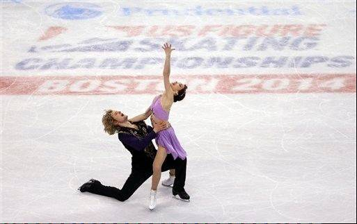 Meryl Davis and Charlie White compete during the ice dance free skate Jan. 11 at the U.S. Figure Skating Championships in Boston.