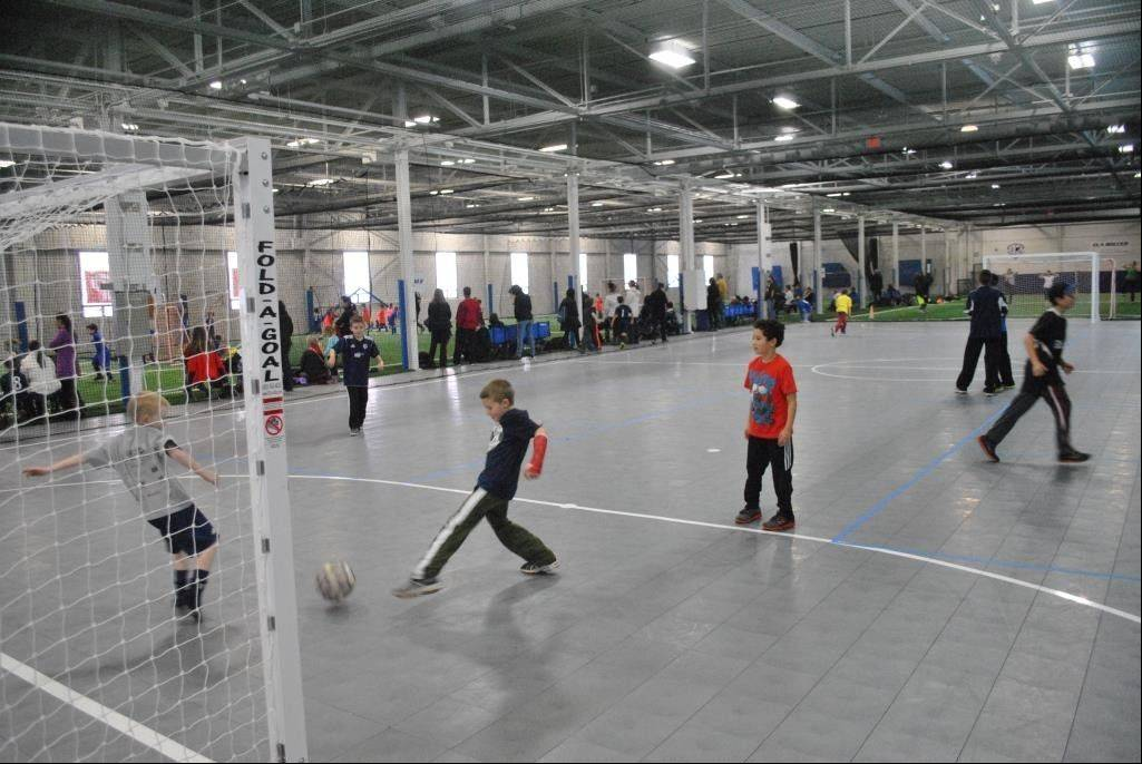 Submitted photo Futsal is a natural fit for the specially finished courts at Main Street Sports Center in Lake Zurich.