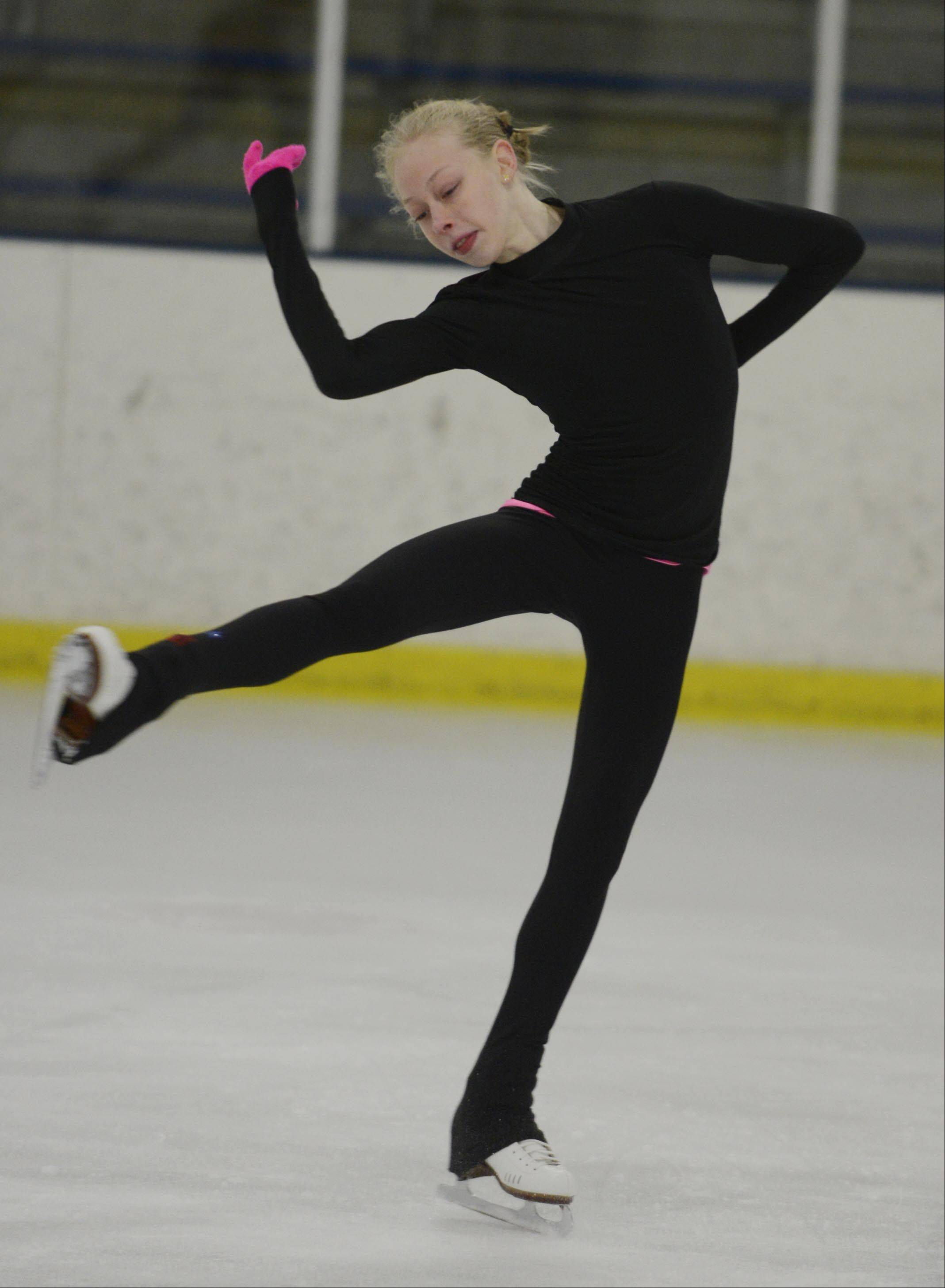 Bradie Tennell of Carpentersville, is moving up in the junior ladies circuit and considers Gracie Gold an inspiration.