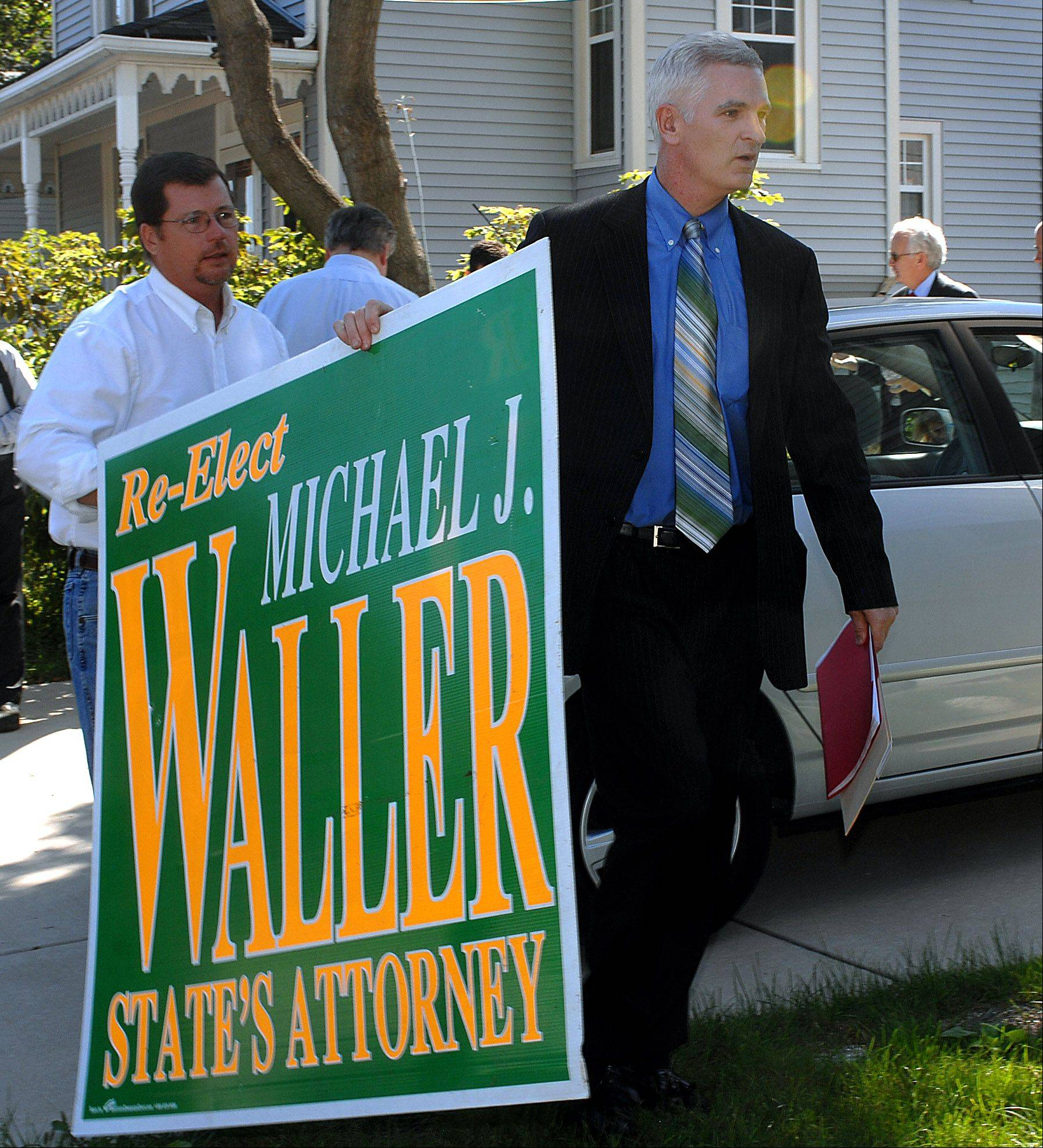 Lake County Sheriff Mark Curran was a Democrat when he endorsed Republican Michael Waller for Lake County state's attorney in 2008. Later that same year Curran became a Republican himself.
