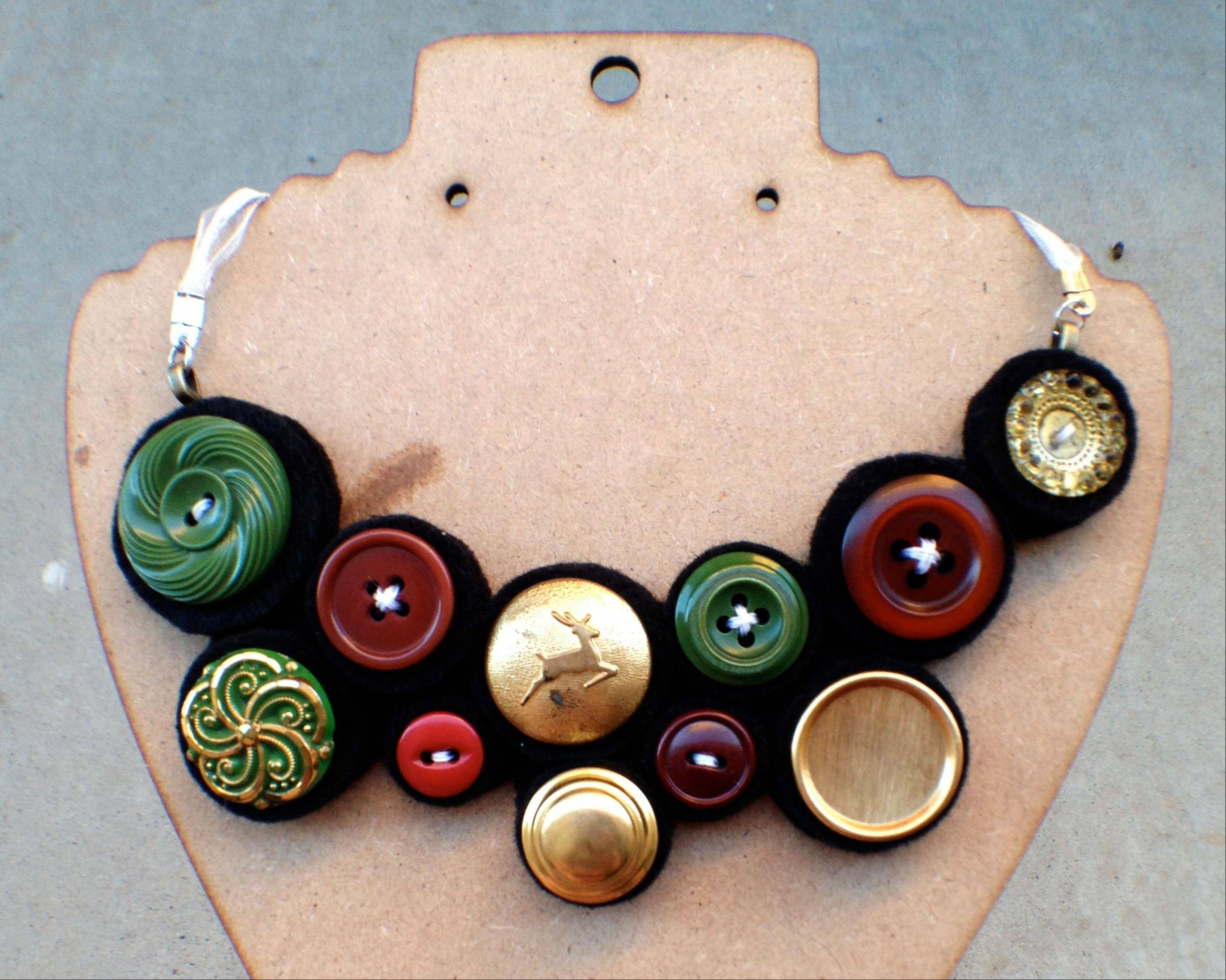 Jenny Chapman would rather craft her own �bubble button bib� necklace than buy it at a store.