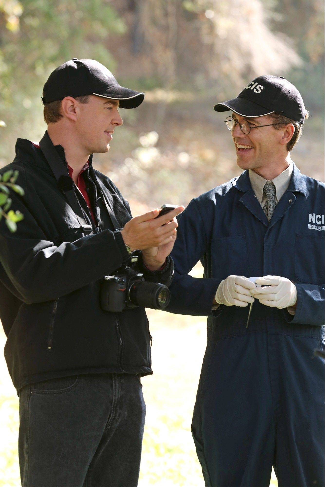 Barrington native Brian Dietzen, right, plays Jimmy Palmer on CBS� hit drama �NCIS.�