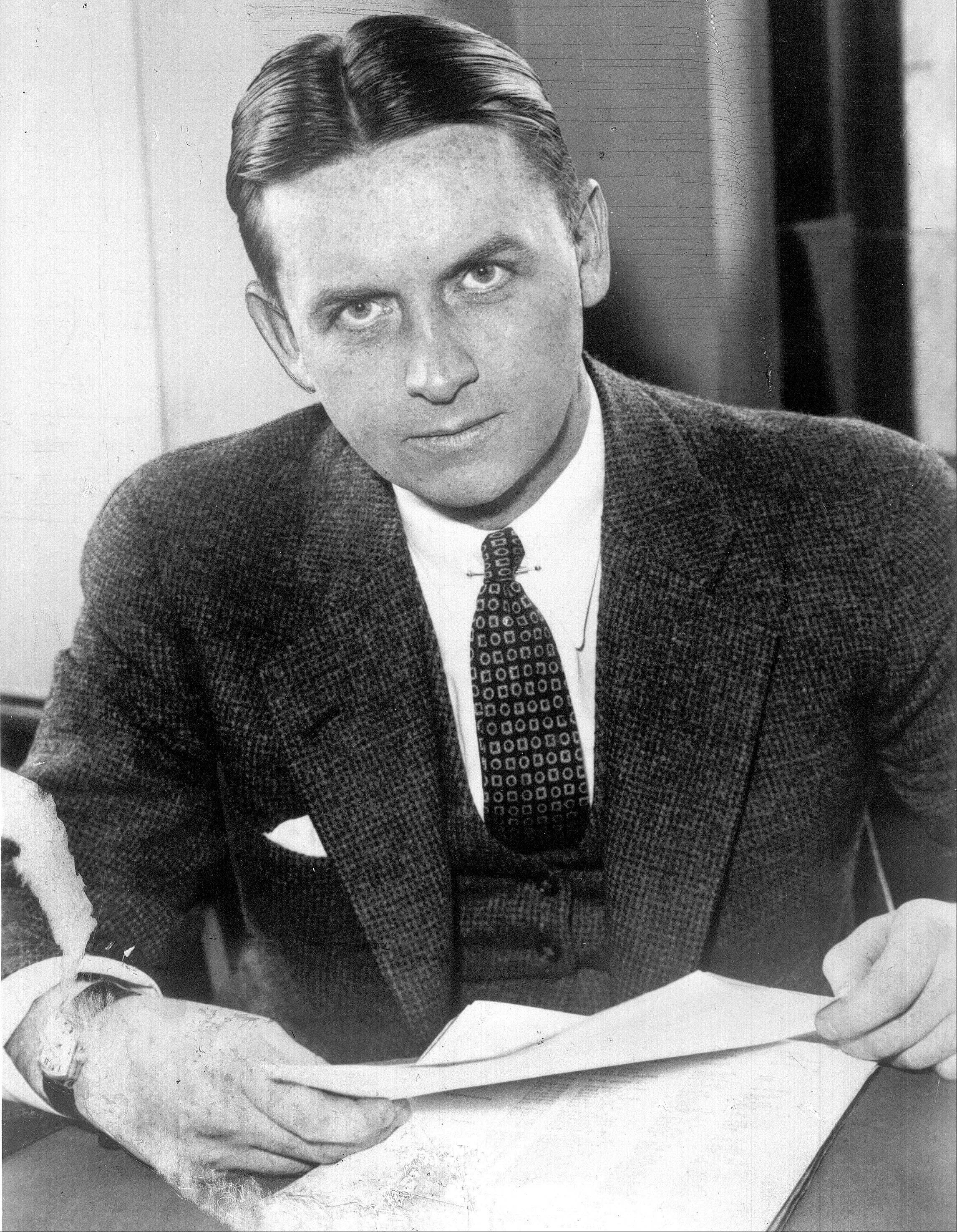 This undated file photo shows Eliot Ness in Cleveland. Portrayed over the years by Kevin Costner and Robert Stack as an incorruptible hero, Ness' legend is now at risk, with some claiming his role in taking out Chicago mobster Al Capone is as mythical as Mrs. O�Leary's cow starting the Great Chicago Fire.