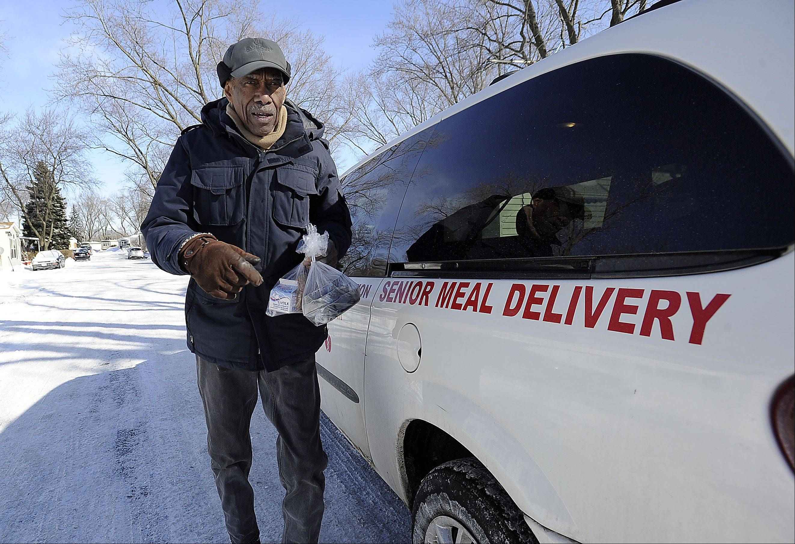 Des Plaines resident and Meals on Wheels driver Samuel Grimes, 88, delivers hot meals to needy people on his route five days a week, regardless of the conditions.