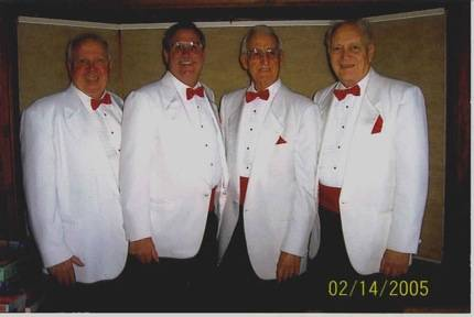 "Pictured here is the ""Clef Hangers"", one of the quartets who will deliver Singing Valentines on February 13-15, 2014 to Fox Valley residents"