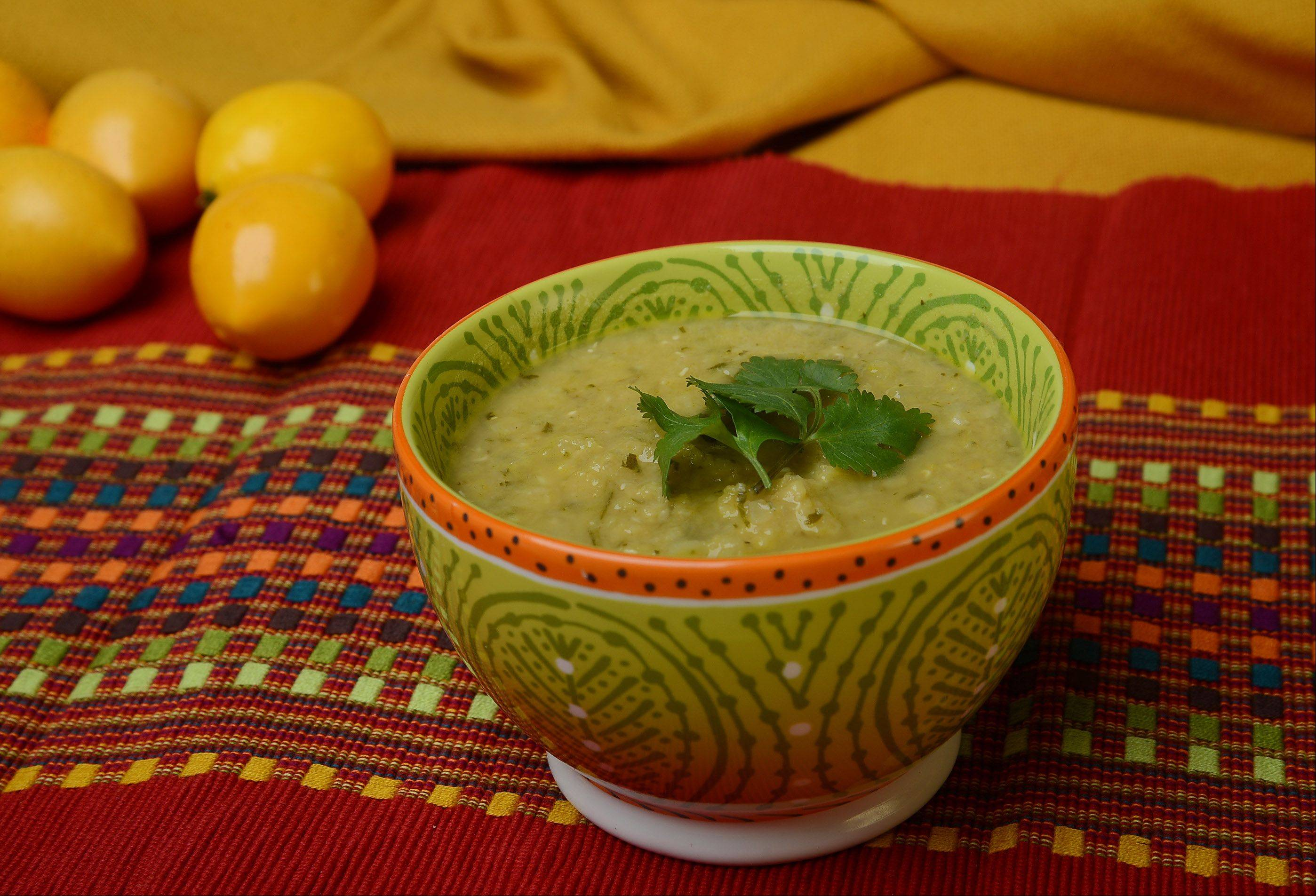 Red Lentil Soup with Cilantro Pesto and Lemon
