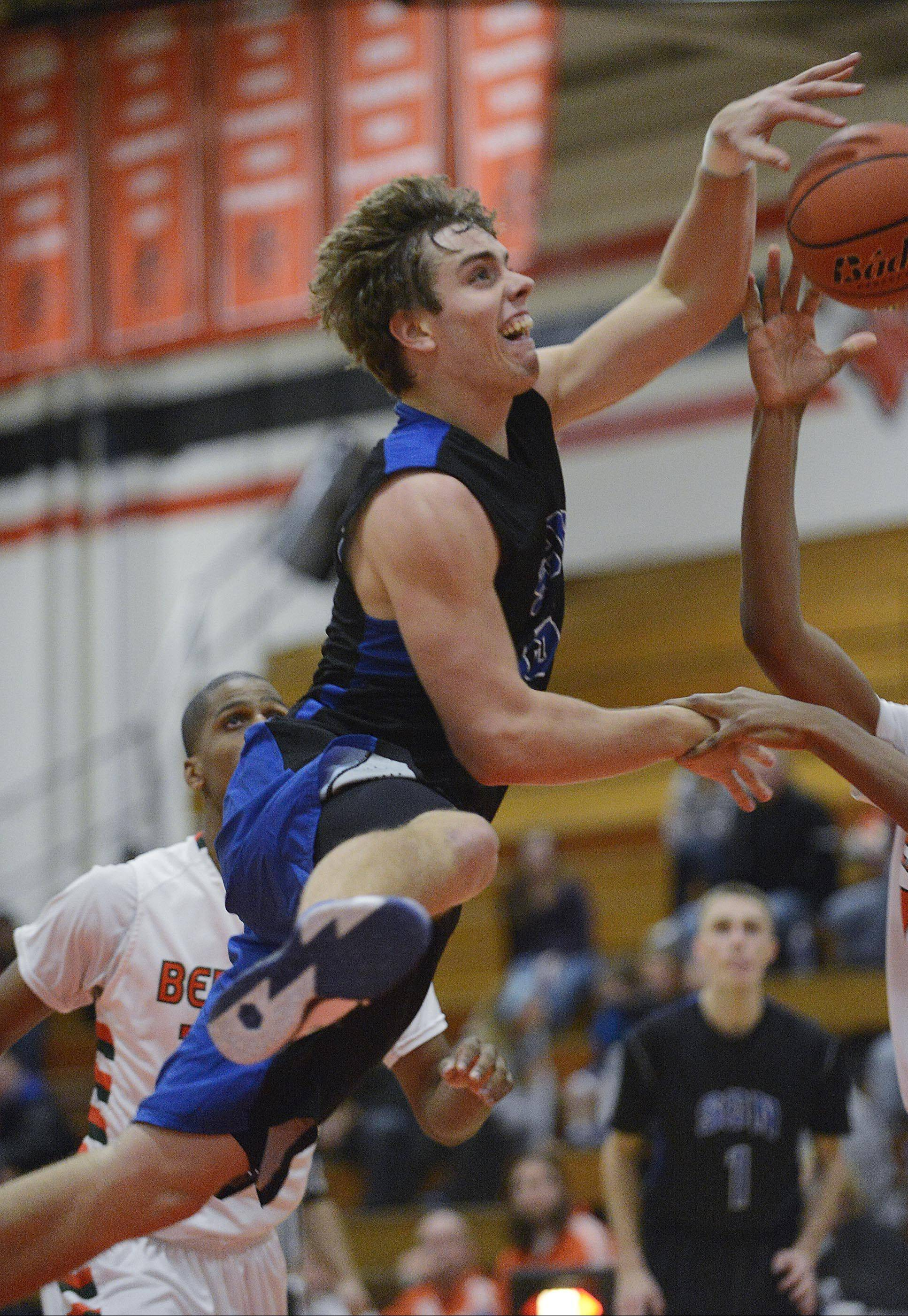 St. Charles North�s Erik Miller, pictured in the season-opener against Plainfield East, said practices have been more intense since giving up 90 points to St. Charles East in their last game.