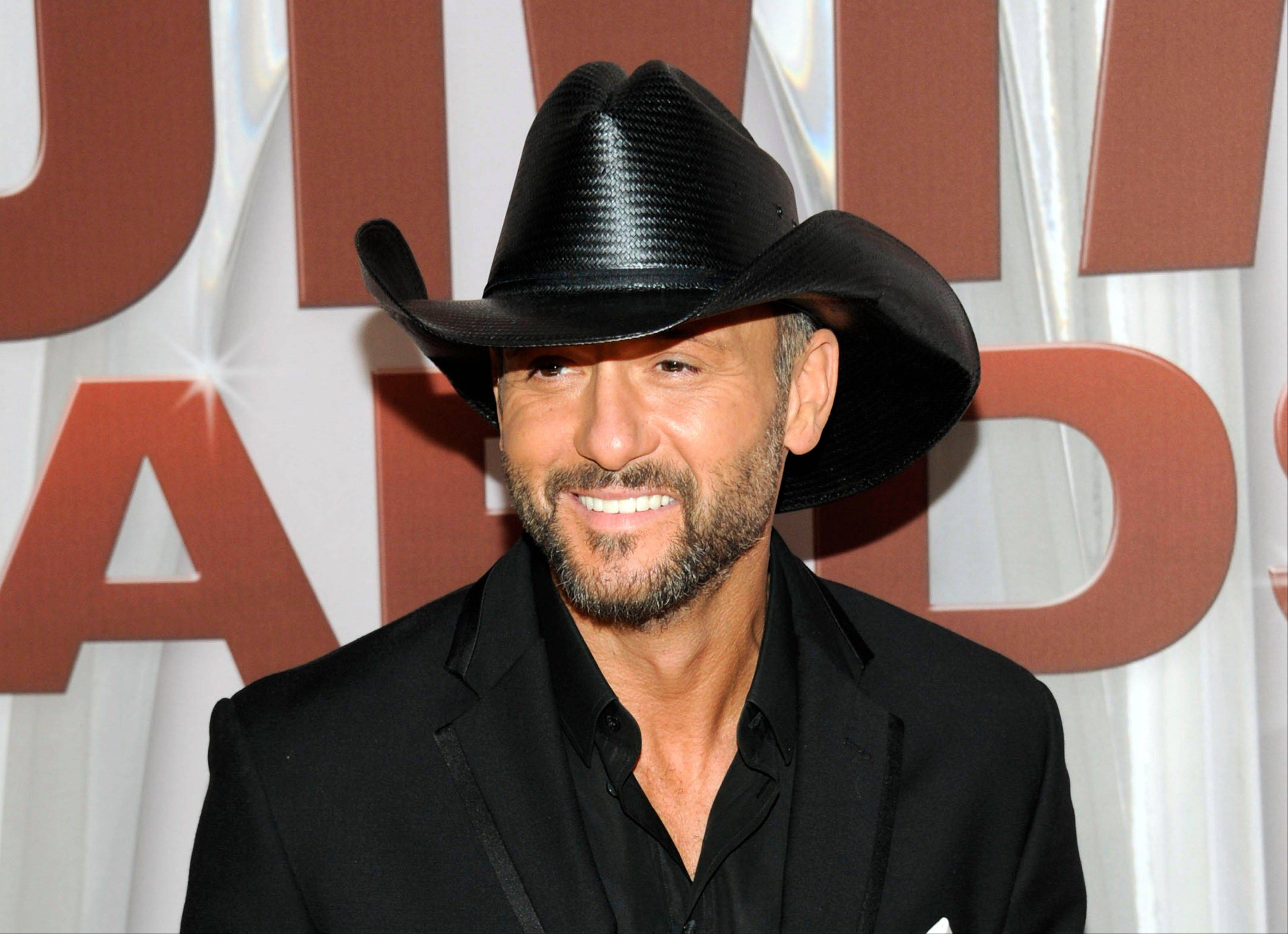 Tim McGraw and Miranda Lambert are the top nominees for this year's Academy of Country Music Awards. Lambert and McGraw are up for seven awards apiece at the April 6 awards show.