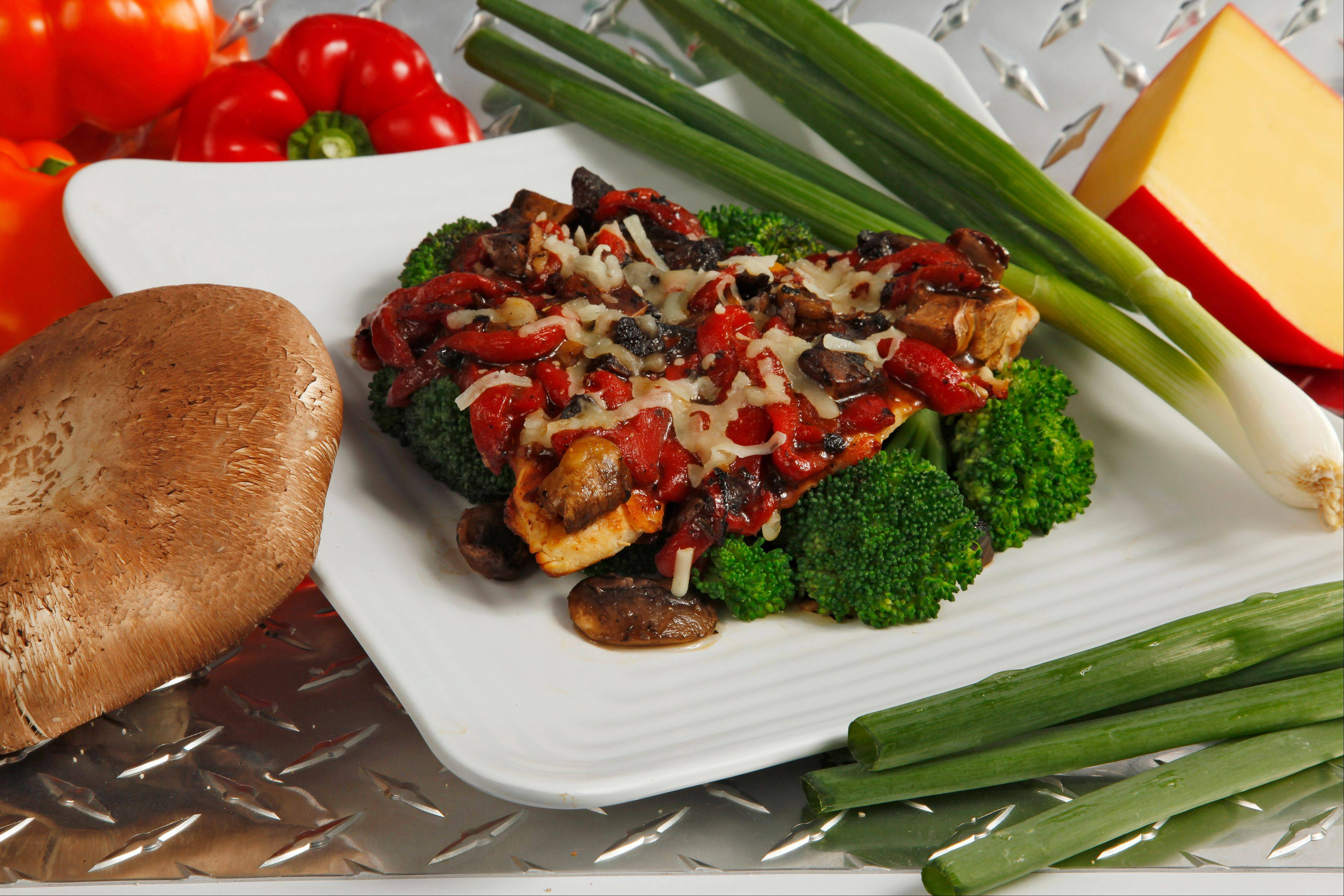 Muscle Maker Grill focuses on lean-protein-based offerings like the Godfather, a grilled chicken breast, portabella mushrooms, red roasted peppers and reduced-fat mozzarella with a gluten- and fat-free balsamic vinaigrette for $9.99.