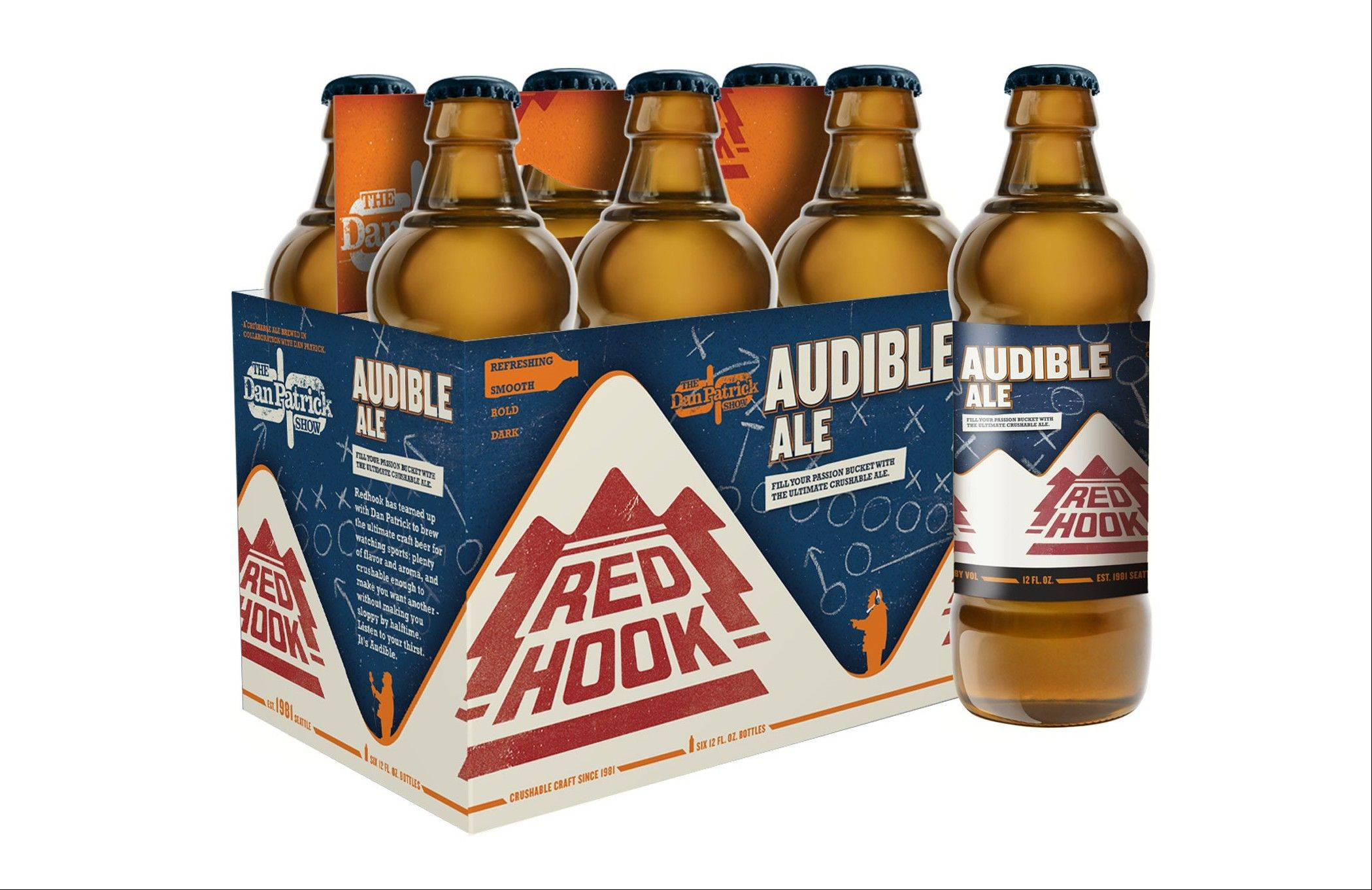 Red Hook Brewery makes Audible Ale, which refers to the term when a team changes its play at the line of scrimmage, is a medium-bodied beer with a mild hop bitterness.
