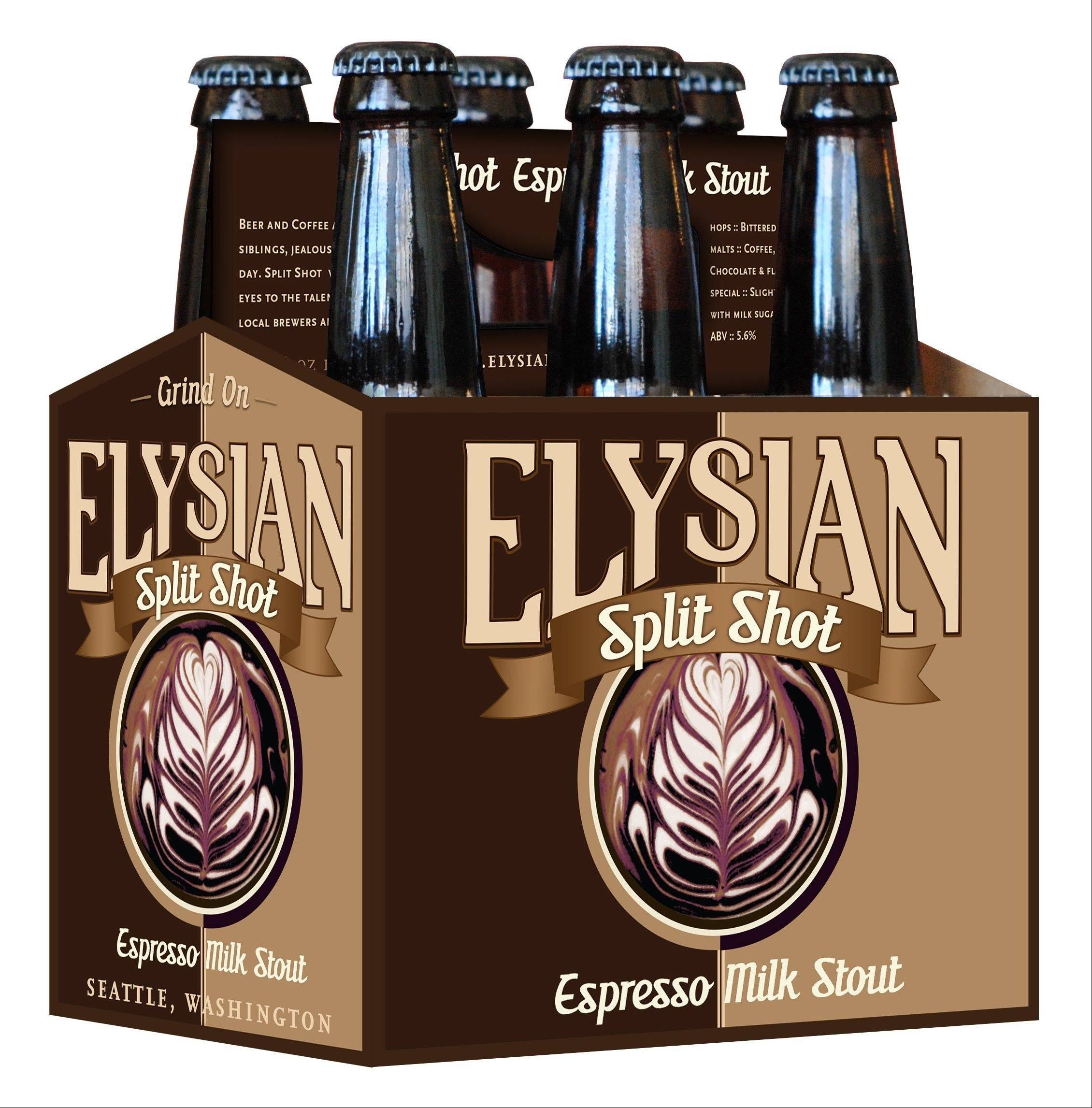 Elysian Brewery's Split Shot Espresso Milk Stout combines sweet cream and rich chocolate flavors with Stumptown Coffee.