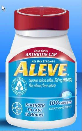 Federal health officials say the pain reliever in Aleve may be safer on the heart than other popular anti-inflammatory drugs taken by millions of Americans.
