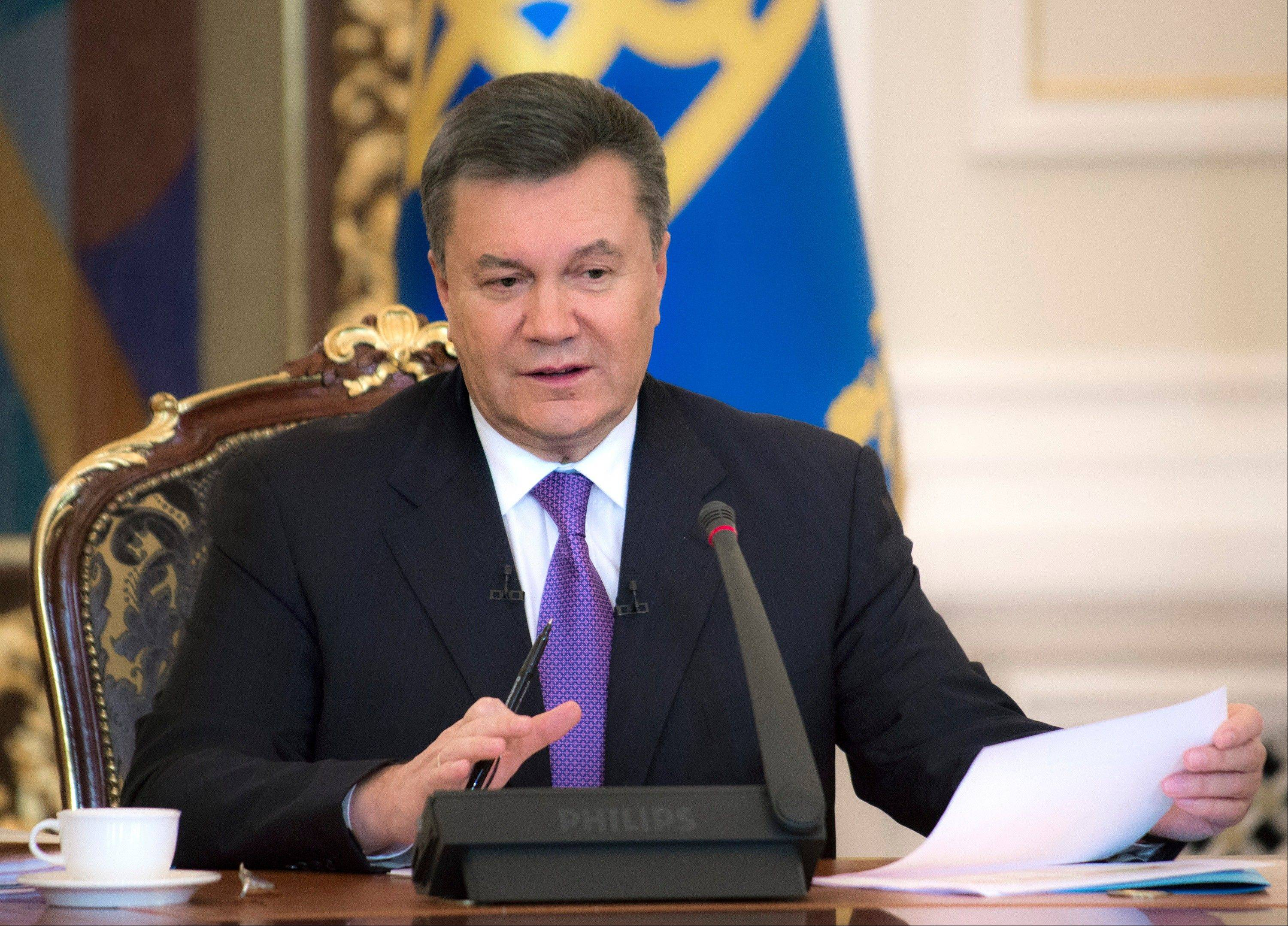 Ukraine's embattled president Viktor Yanukovych began taking sick leave on Thursday, as the country's political crisis continues without signs of resolution. A statement on the presidential website Thursday said Yanukovych has an acute respiratory illness and high fever. There was no indication of how long he might be on leave or whether he would be able to do any work.