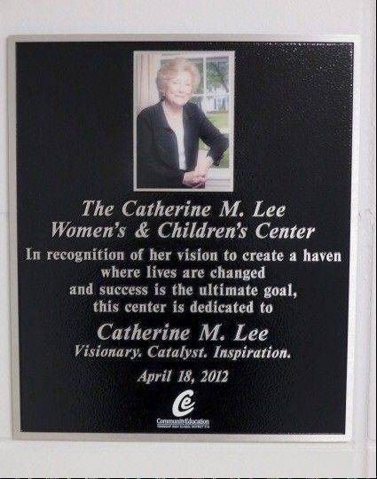 The plaque at Forest View Educational Center.