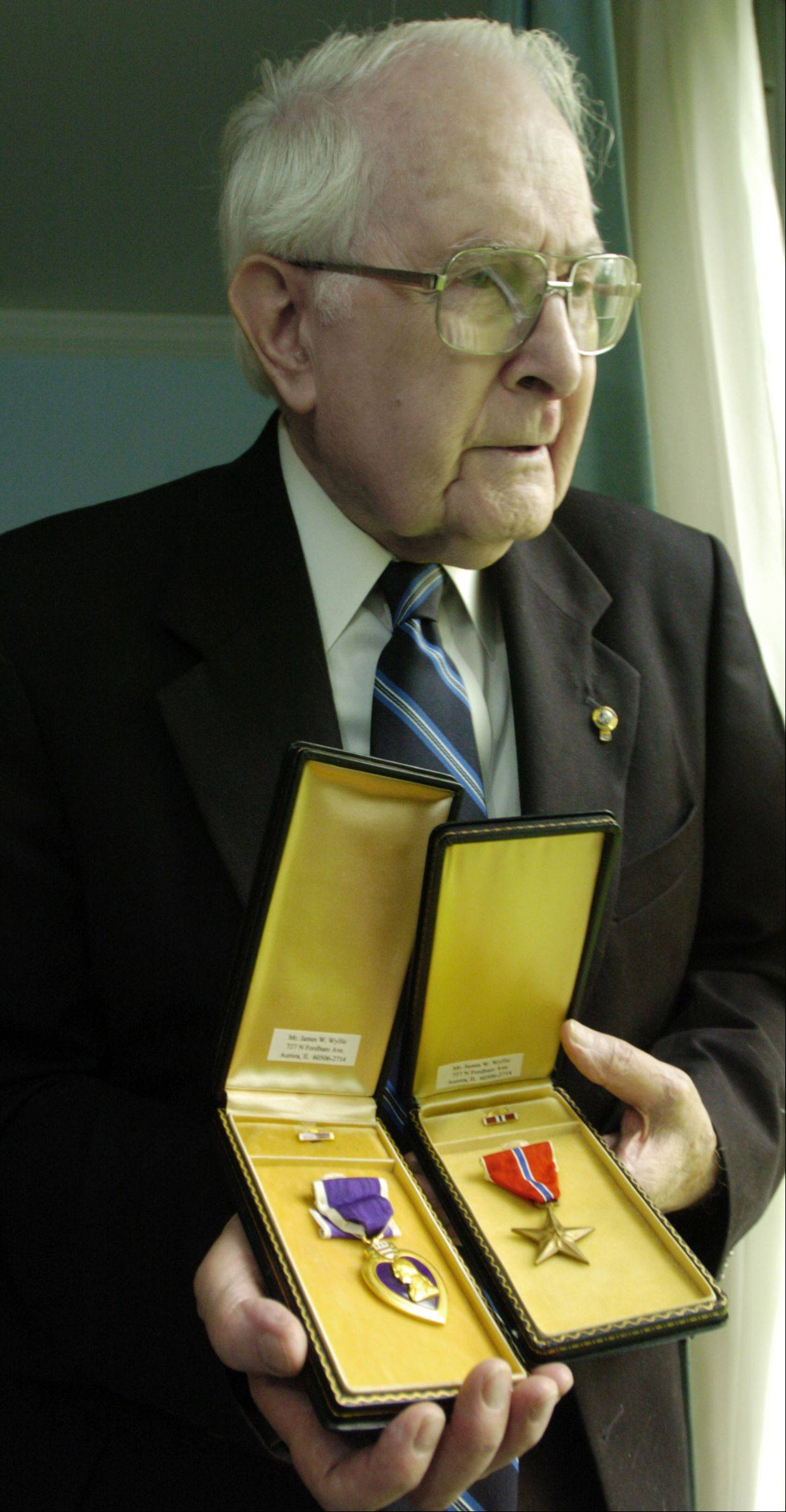 Bill Wyllie received four Purple Hearts and a Bronze Star while serving in the Army in World War II and the Korean War.
