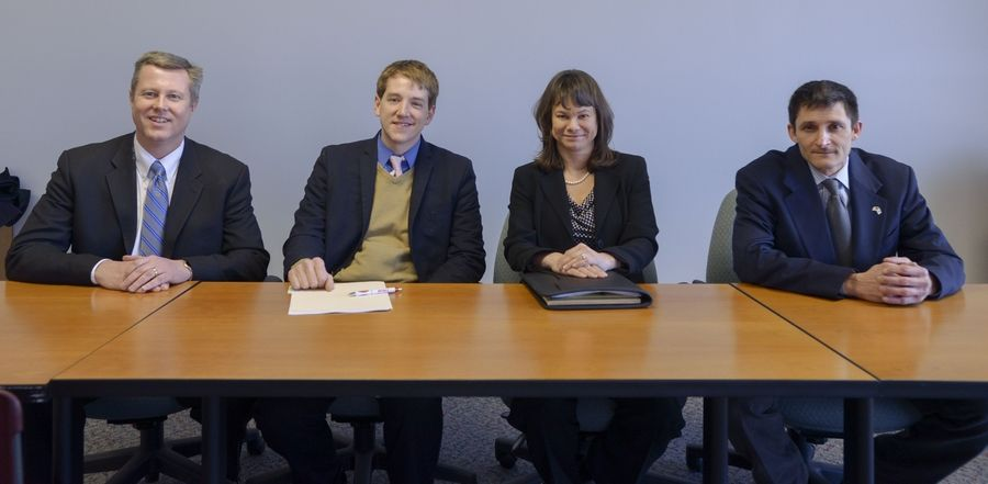 Republicans running in the March 18 primary for the 45th House seat are, from left, Seth Lewis, Daniel Brinkman, Christine Winger and T.J. Lewis.