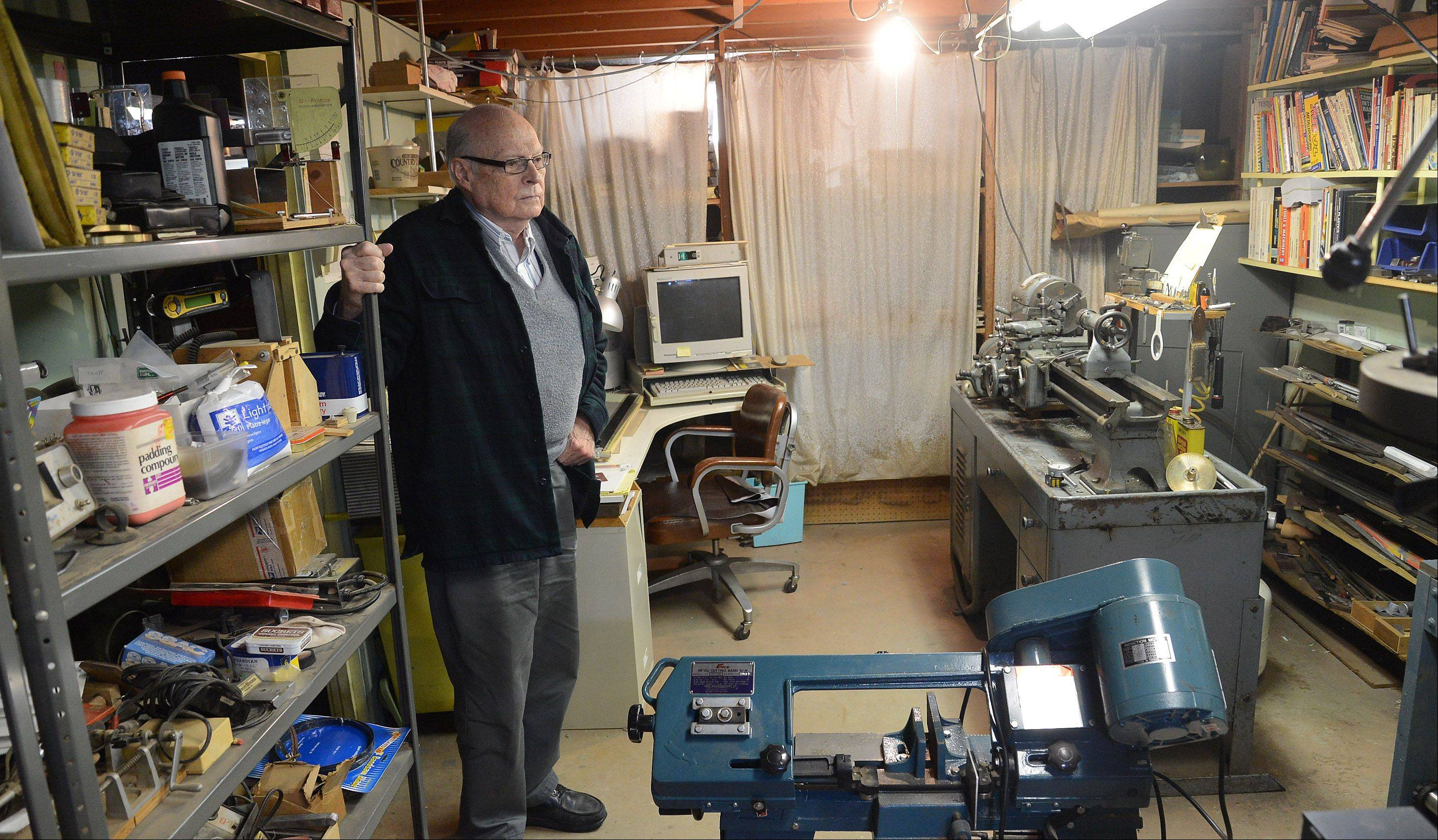 Buying the first Rolling Meadows house that offered a basement, 85-year-old retired engineer Ed Evenson has used his workshop to make everything from pocket sundials to educational children's toys.