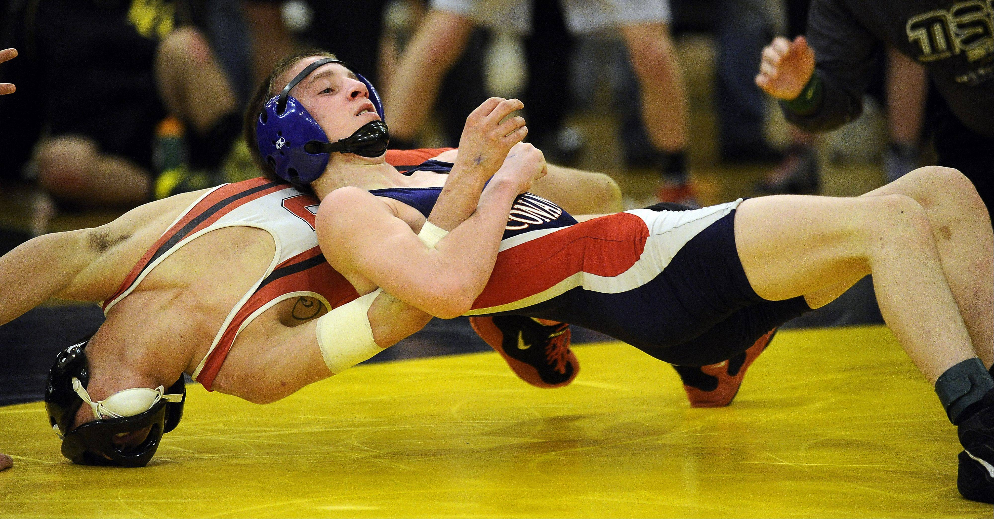 Conant's Bobby Alexander, top, leads a team with MSL title hopes in the conference meet at Hersey this weekend.