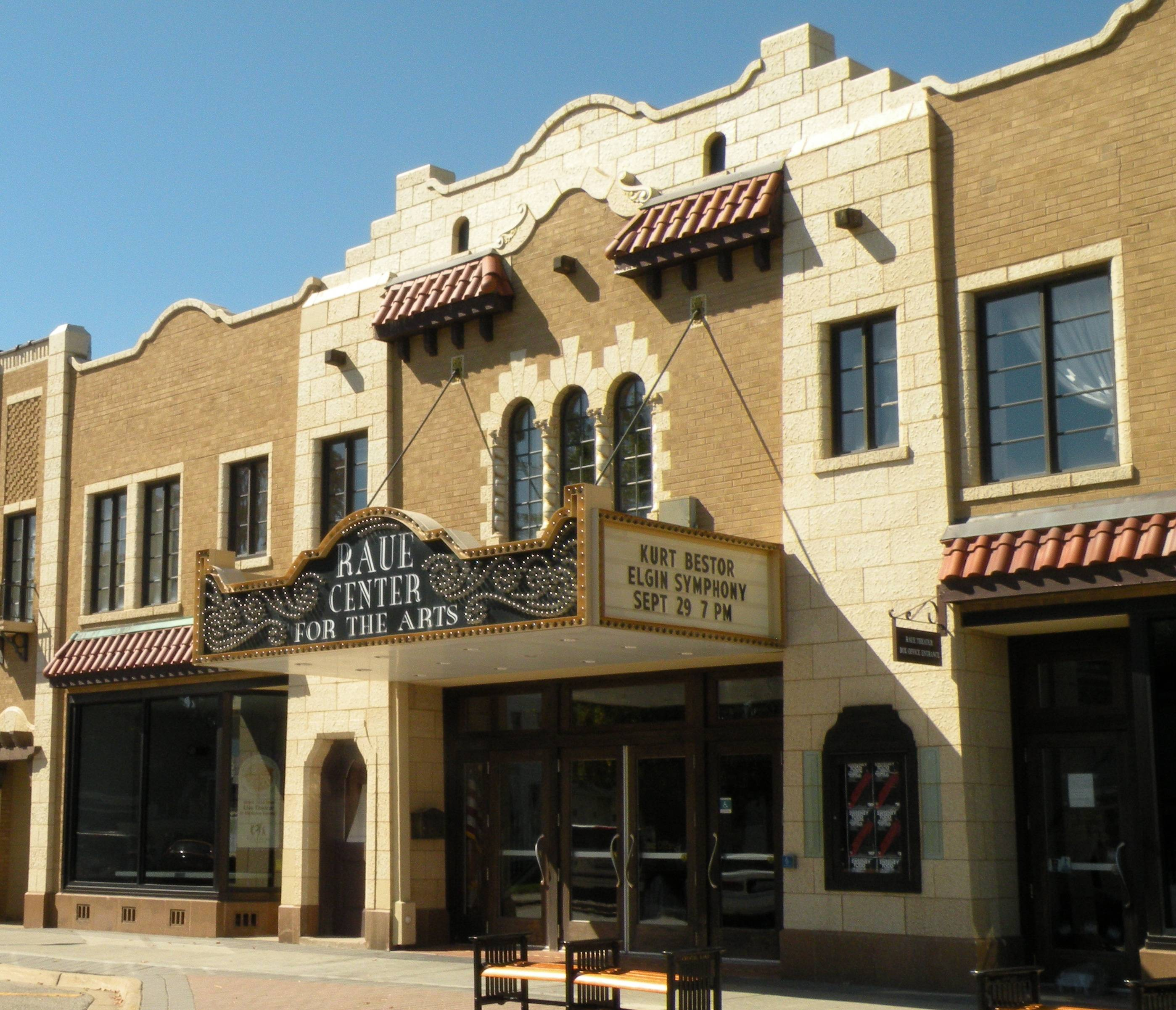 The 1929 El Tovar Theatre (Raue Center for the Arts) in Crystal Lake