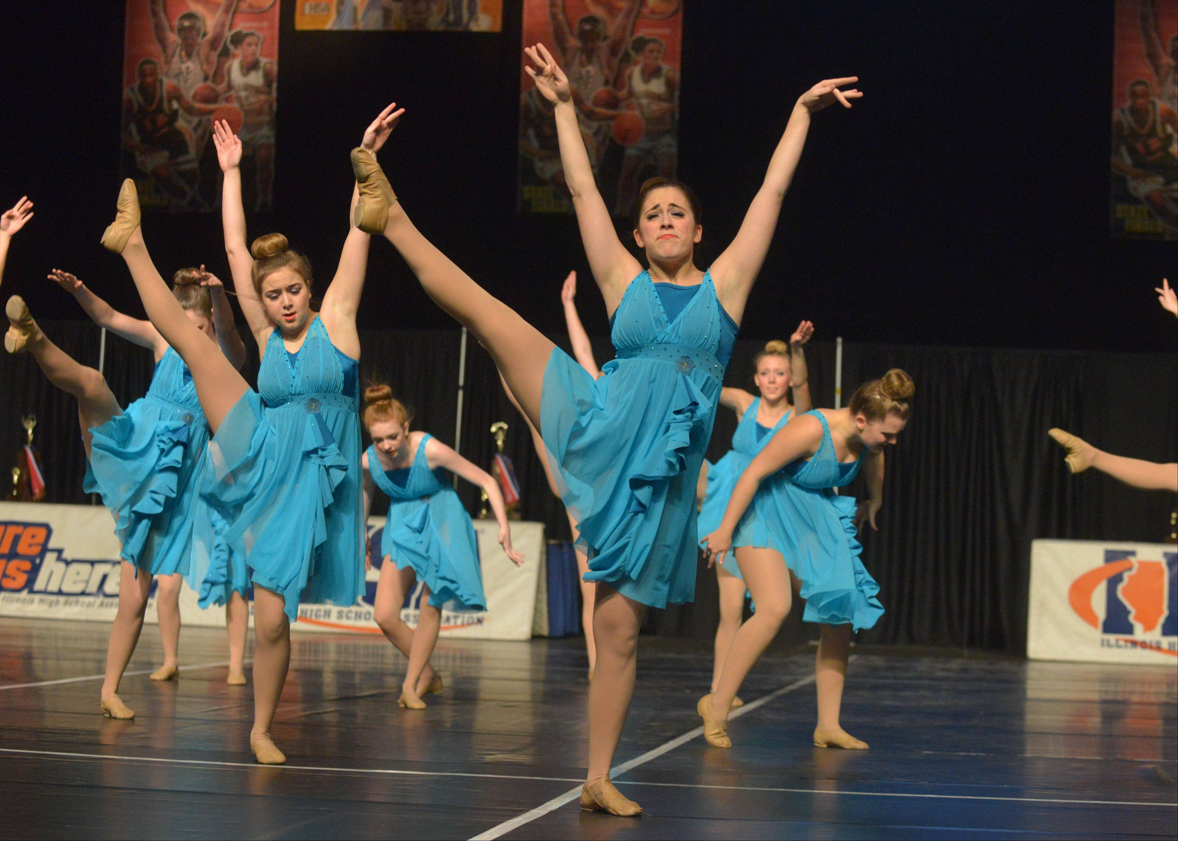 Part of the performance by St. Francis High School in Wheaton that earned the team a spot in Saturday's finals.
