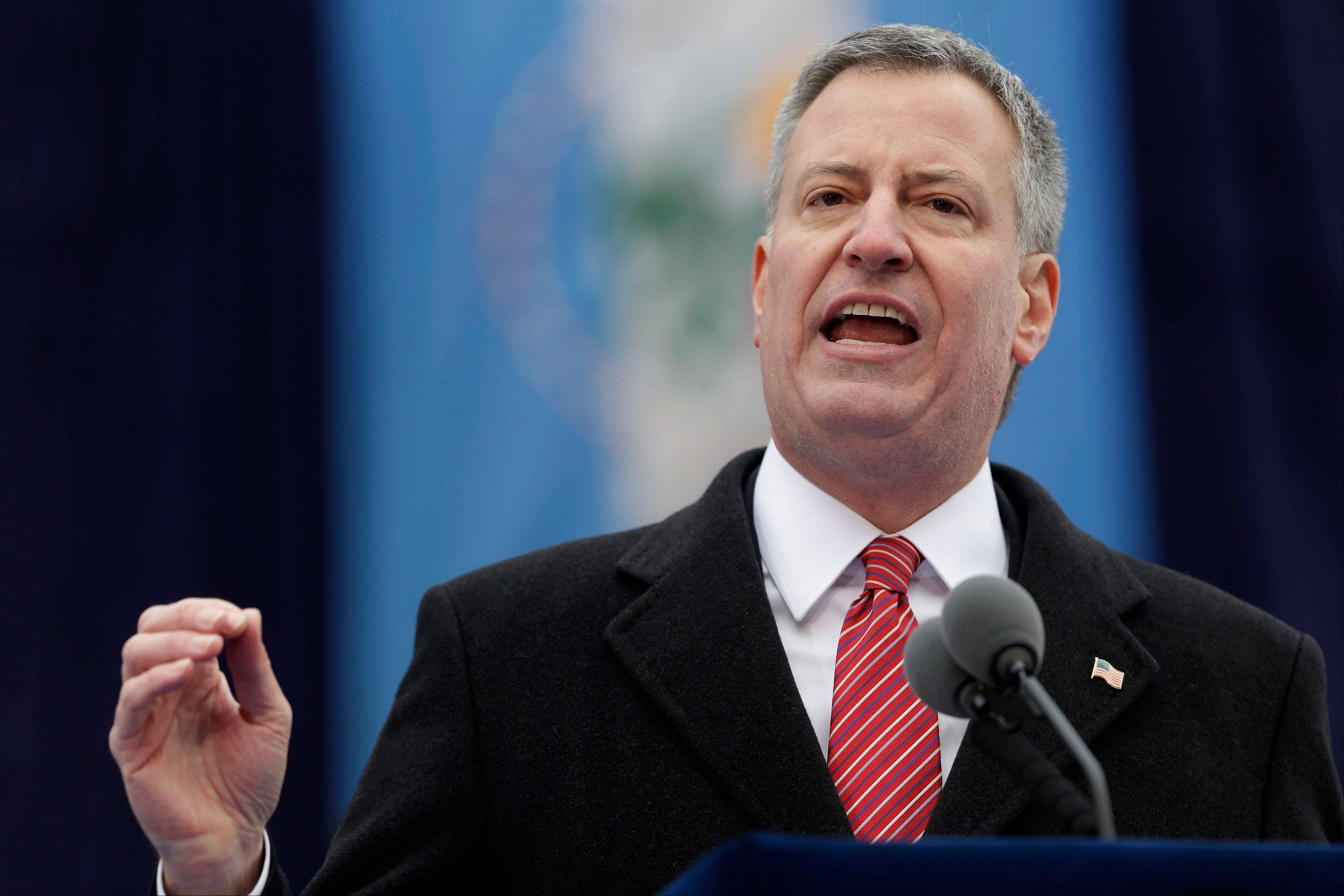 "New York City Mayor Bill de Blasio will not travel across the Hudson River to MetLife Stadium in East Rutherford, N.J., on Sunday for the Super Bowl that will be broadcast to a television audience expected to top 100 million people. De Blasio said Thursday, Jan. 30, that he has ""decided to watch the game on TV, just like the vast majority of New Yorkers."""
