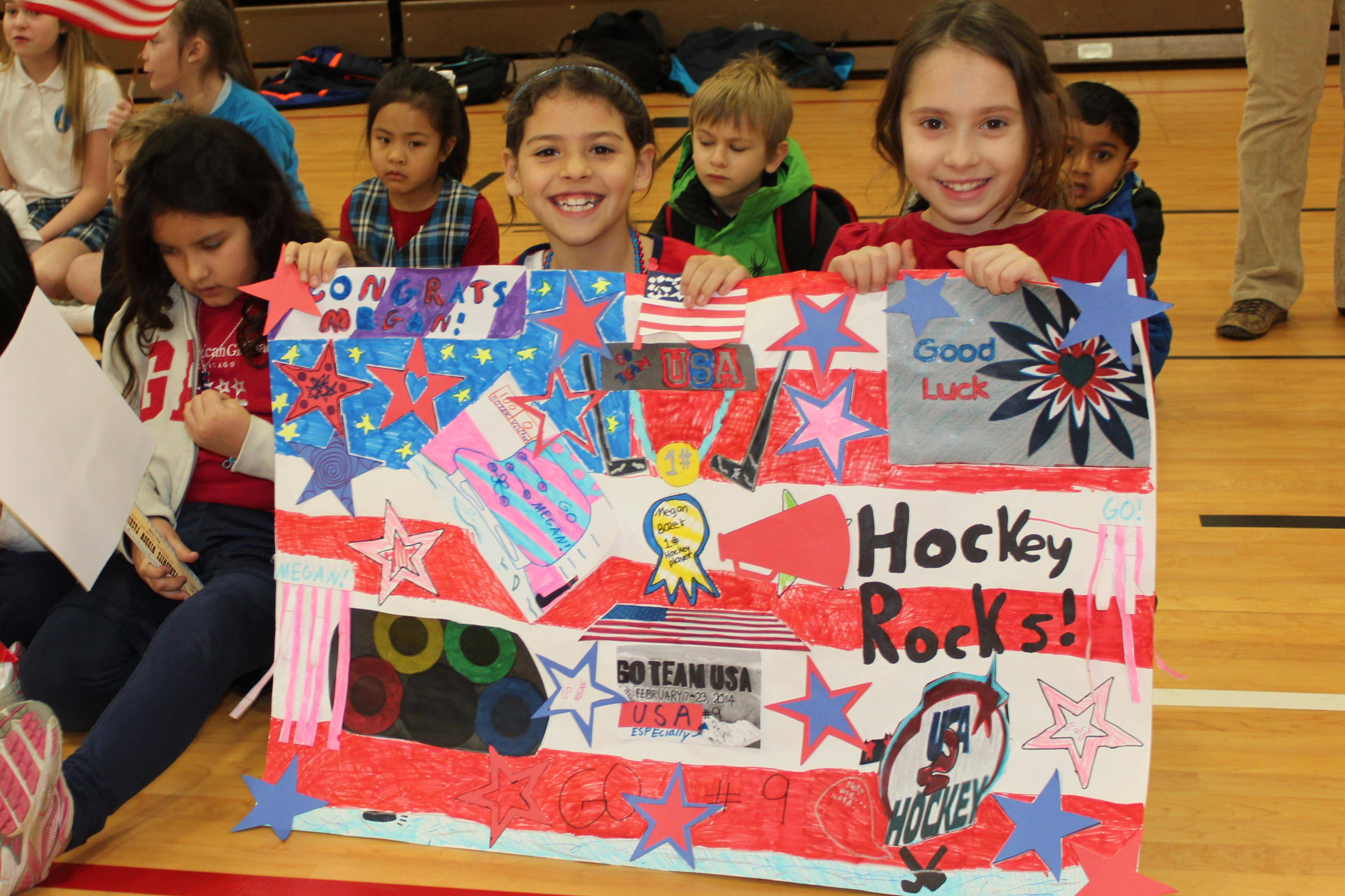 St Mary School Wishes Megan Bozak and US Olympic Team Good Luck