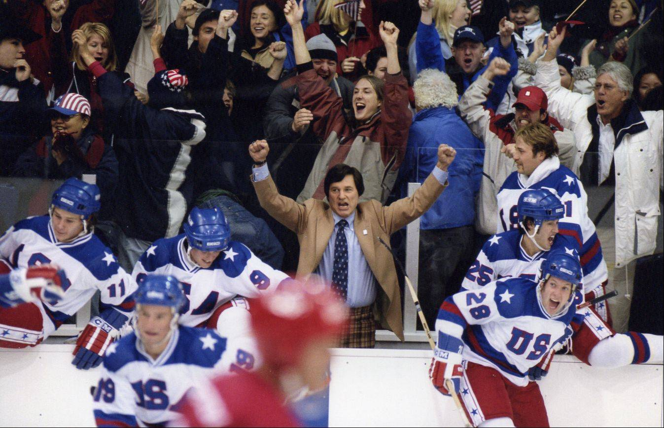 "The movie ""Miracle,"" about Team USA's unlikely hockey win over Russia at the 1980 Olympics, should get you in the mood for the Winter Games. The 2004 movie starred Kurt Russell, center, as Coach Herb Brooks."