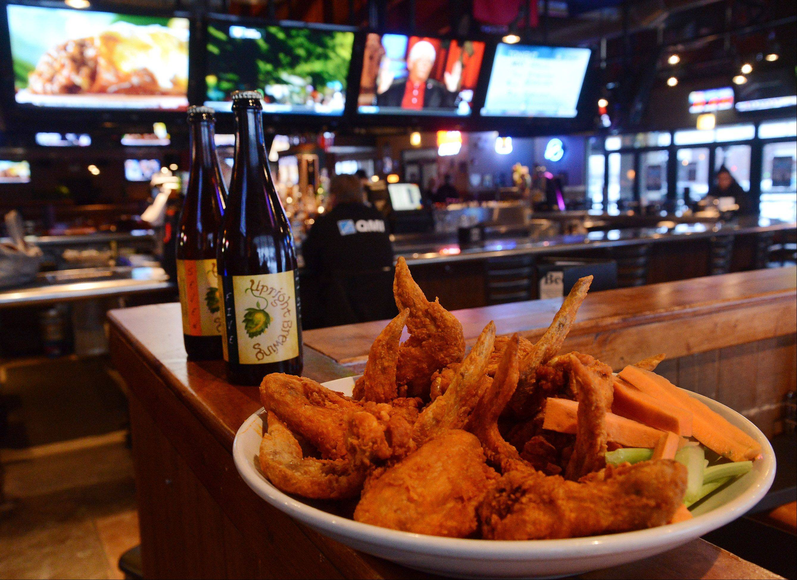 Beer and wings make a good Super Bowl combo at Real Time Sports in Elk Grove Village.
