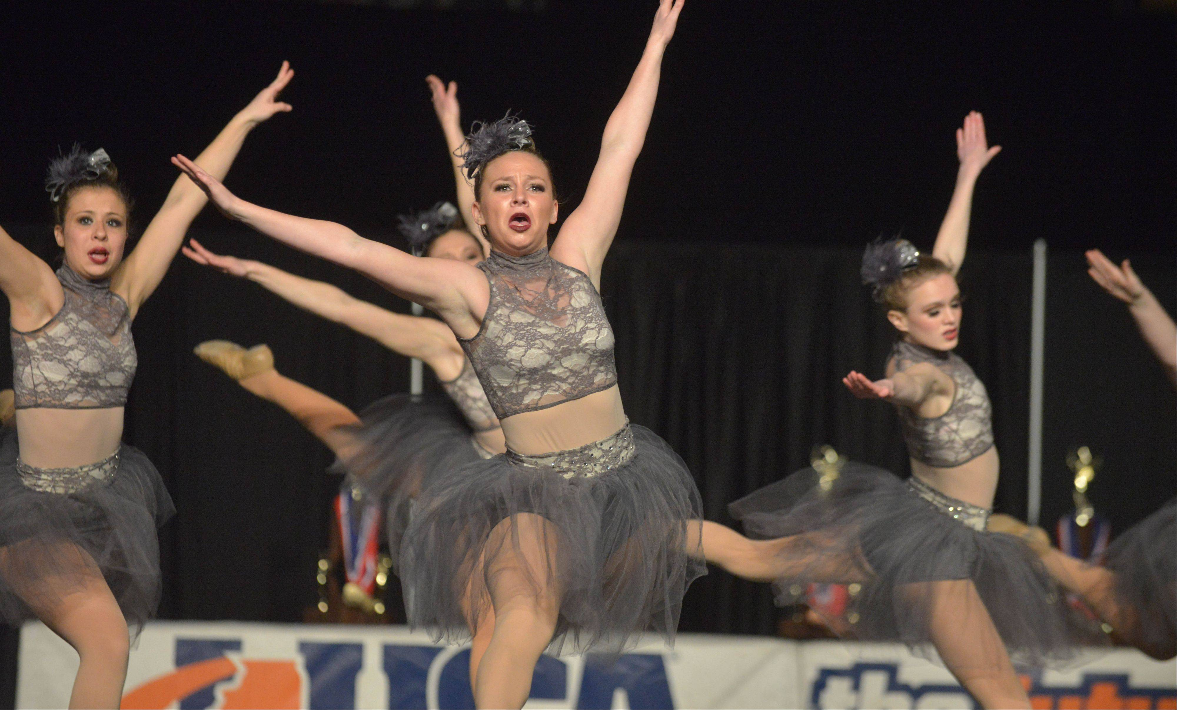 The South Elgin dance team takes part in the competitive dance preliminary round.