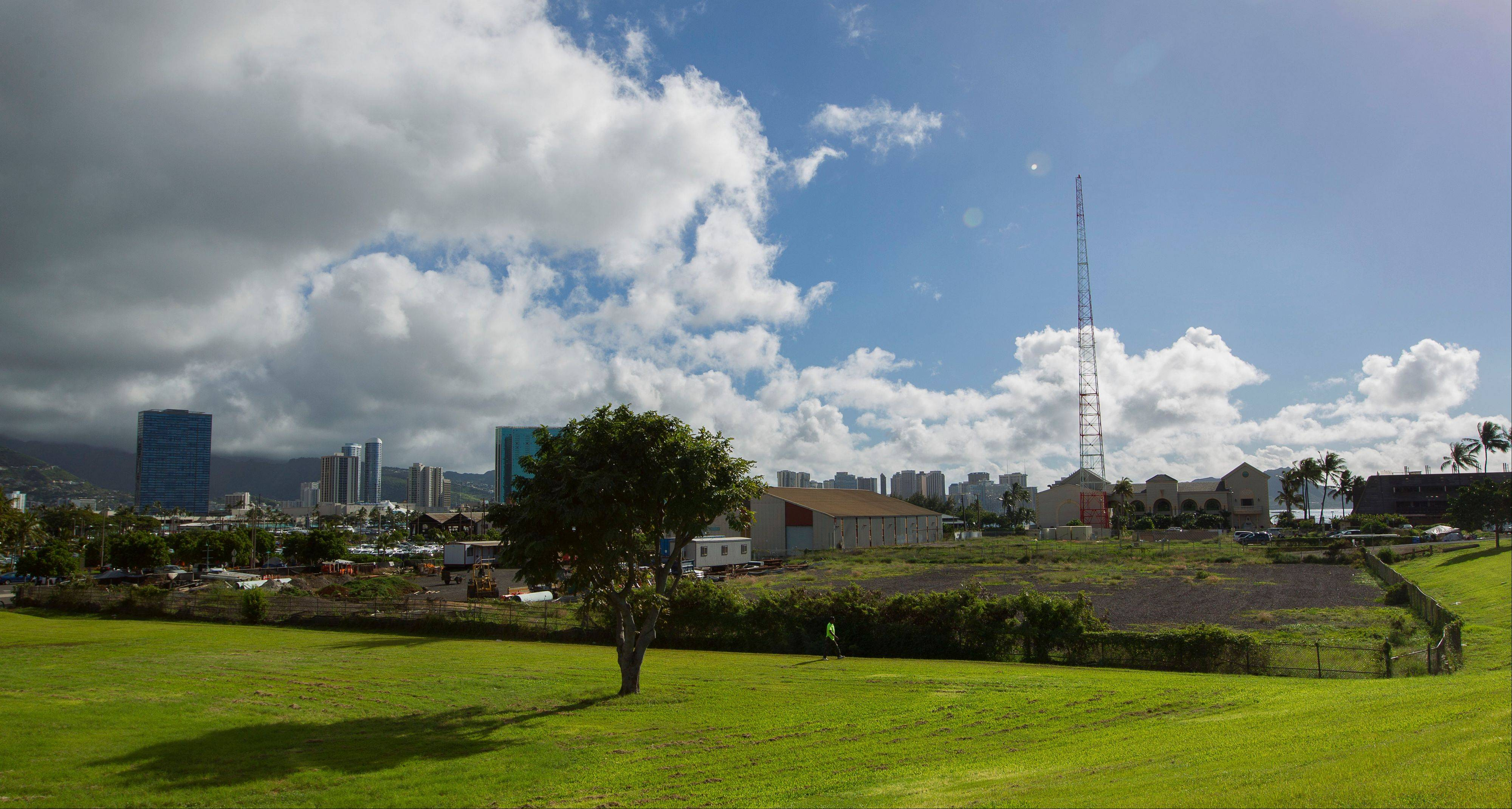 The Kakaako district of Honolulu is one possible location for the Barack Obama Presidential Library. The location is considered prime real estate with views of the ocean and Koolau mountains.