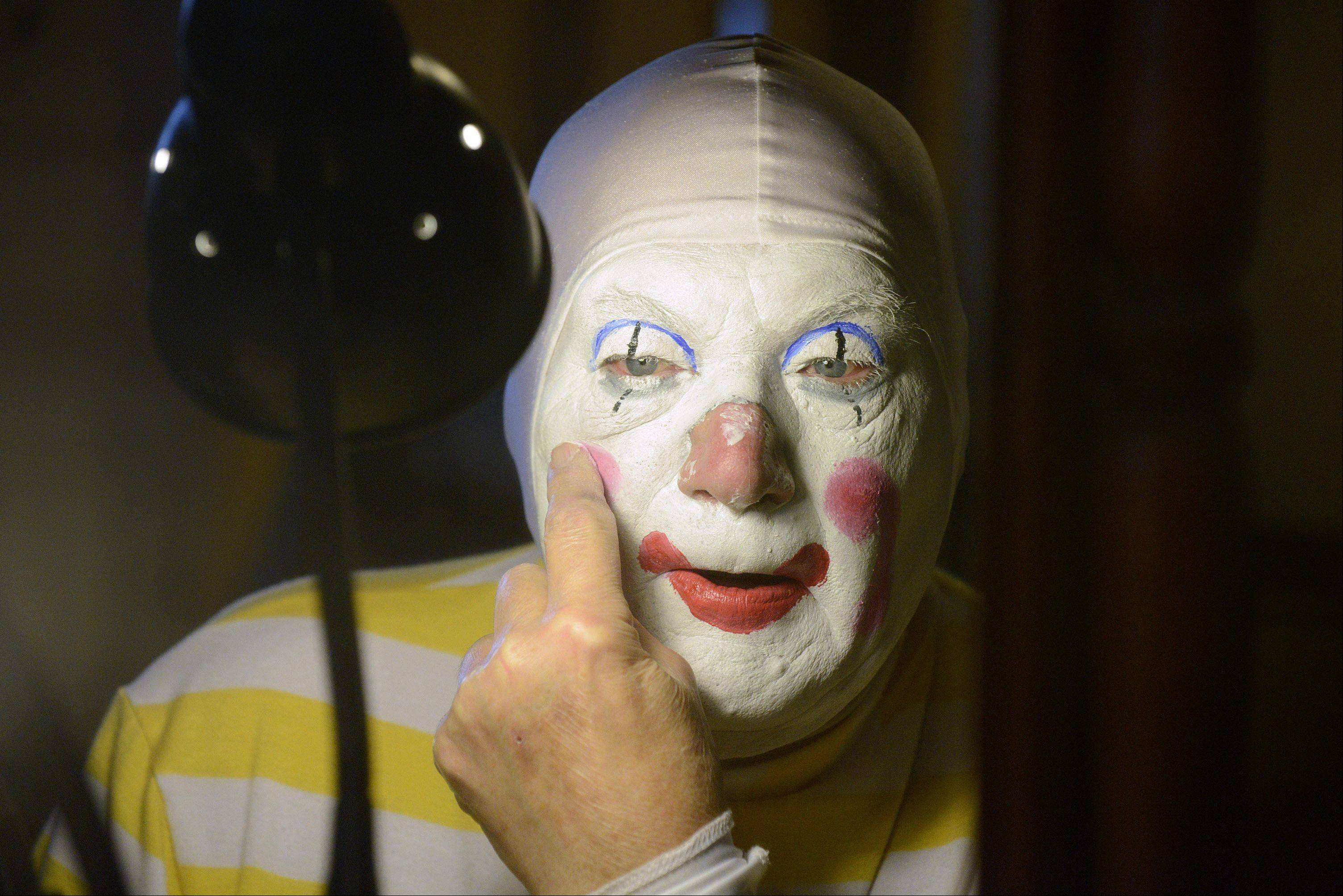 Jack Kramer of Lily Lake transforms into Polyester the clown.